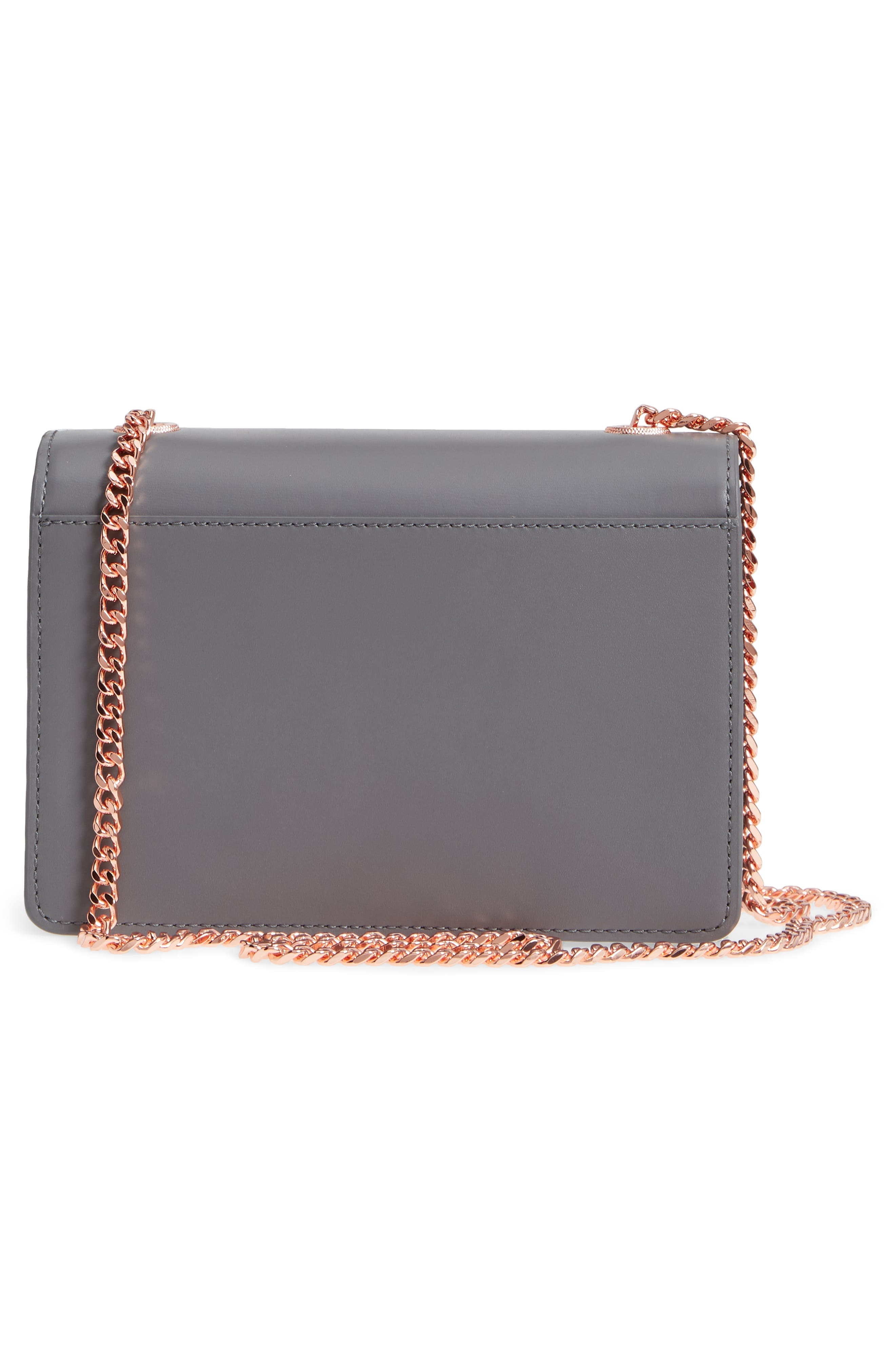 Earie Leather Crossbody Bag,                             Alternate thumbnail 3, color,                             020