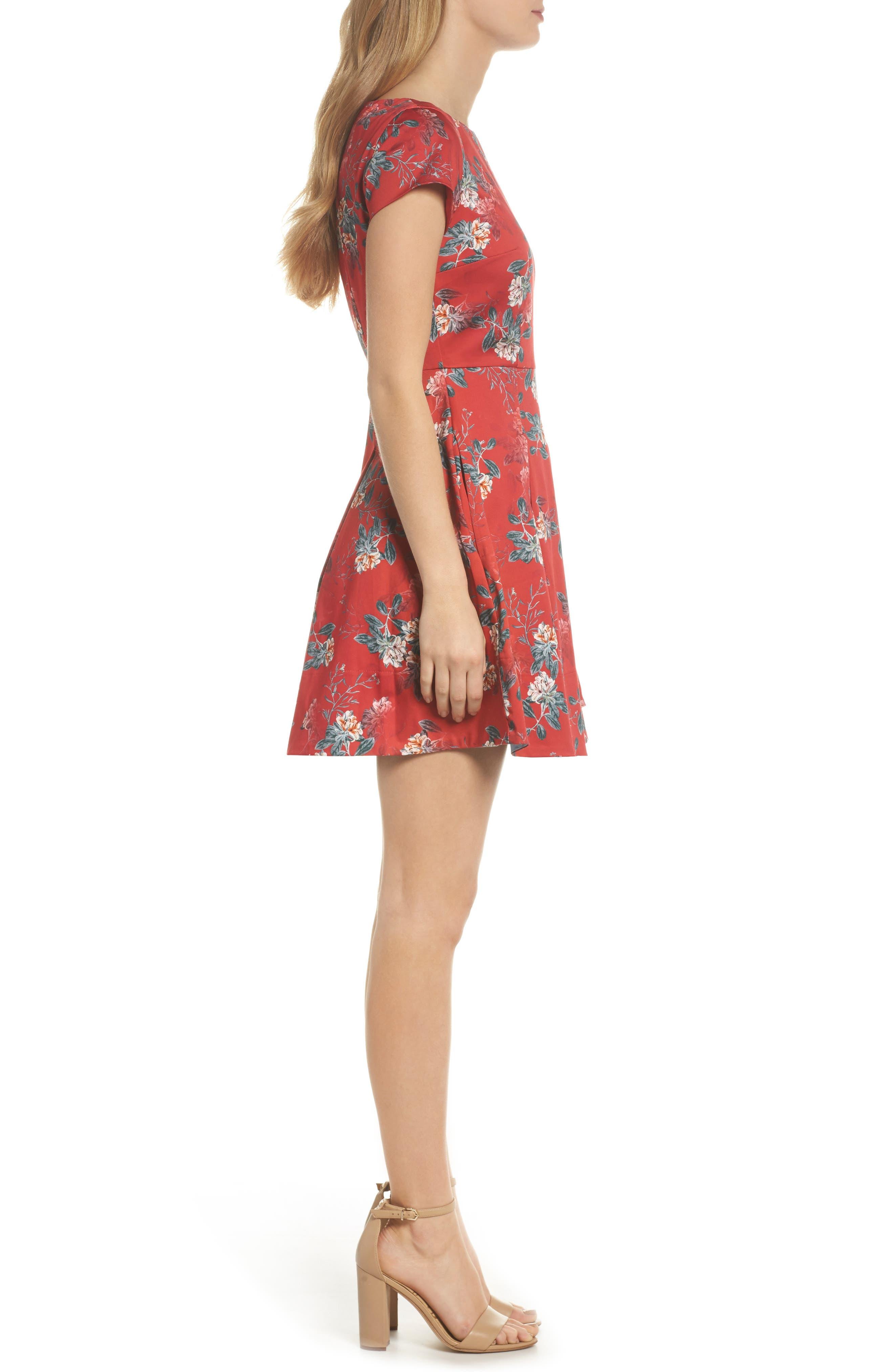 Kioa Fit & Flare Dress,                             Alternate thumbnail 5, color,