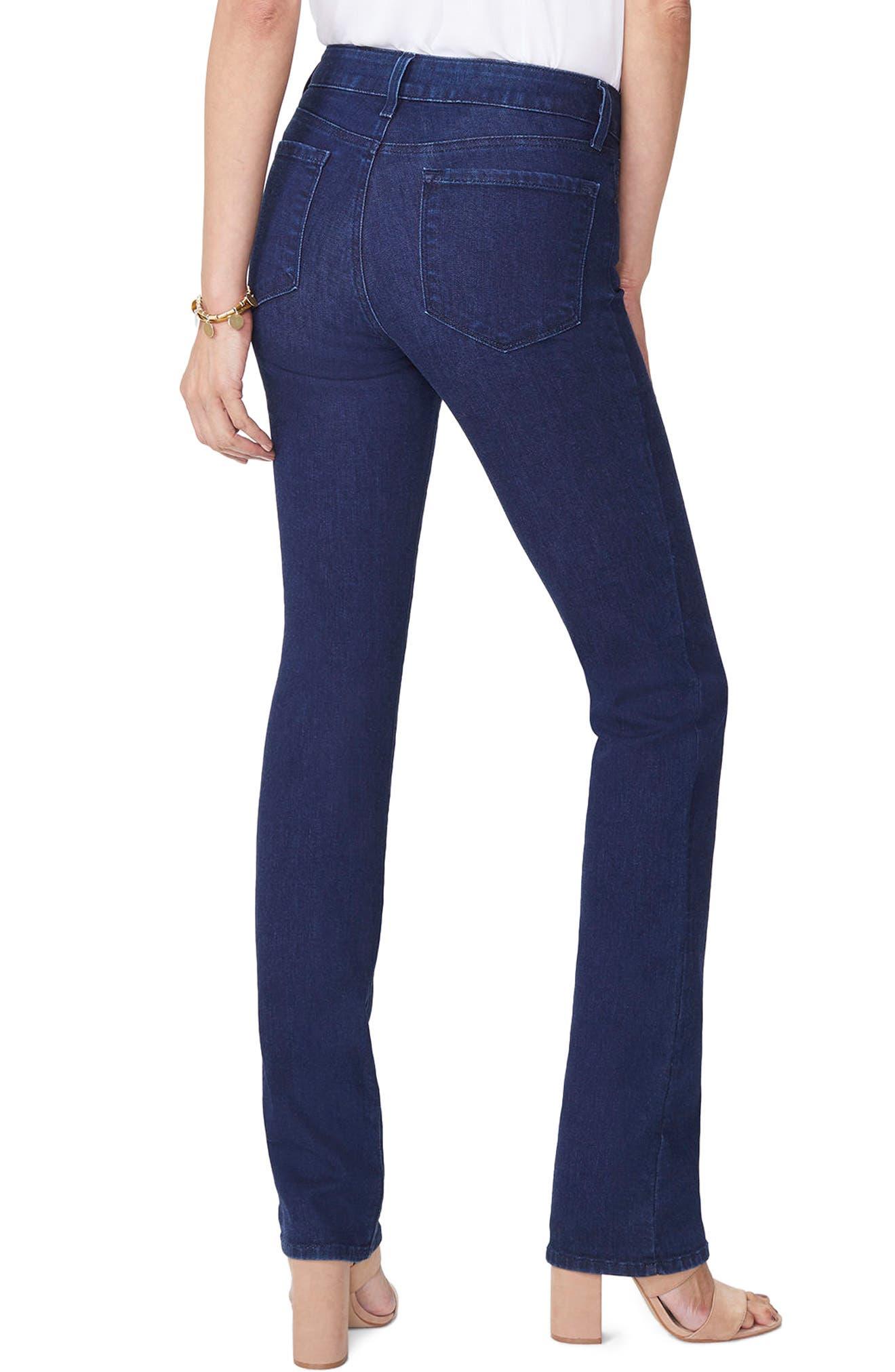 Marilyn High Waist Stretch Straight Leg Jeans,                             Alternate thumbnail 2, color,                             RINSE