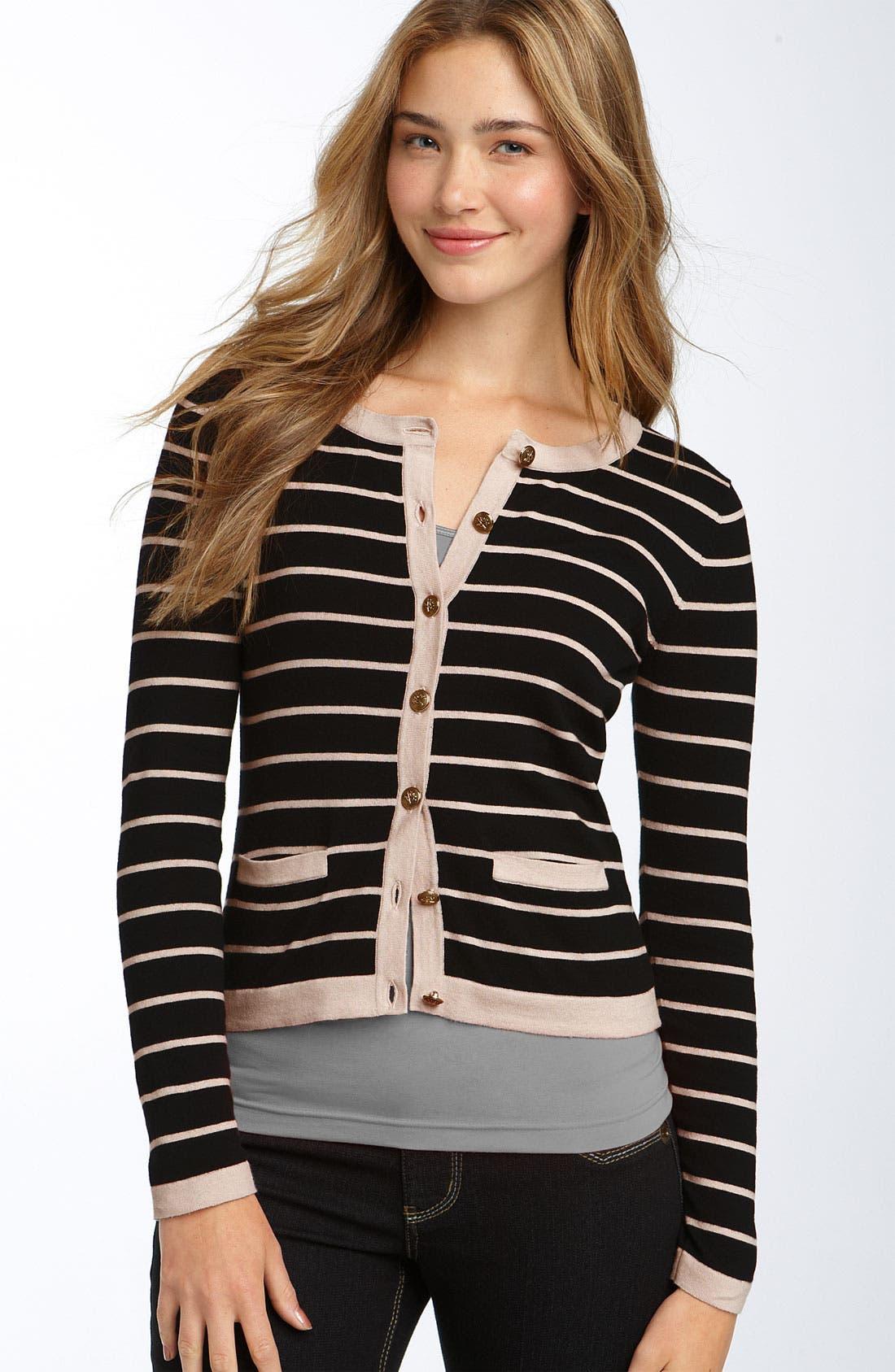 Stripe Cardigan,                         Main,                         color, 001