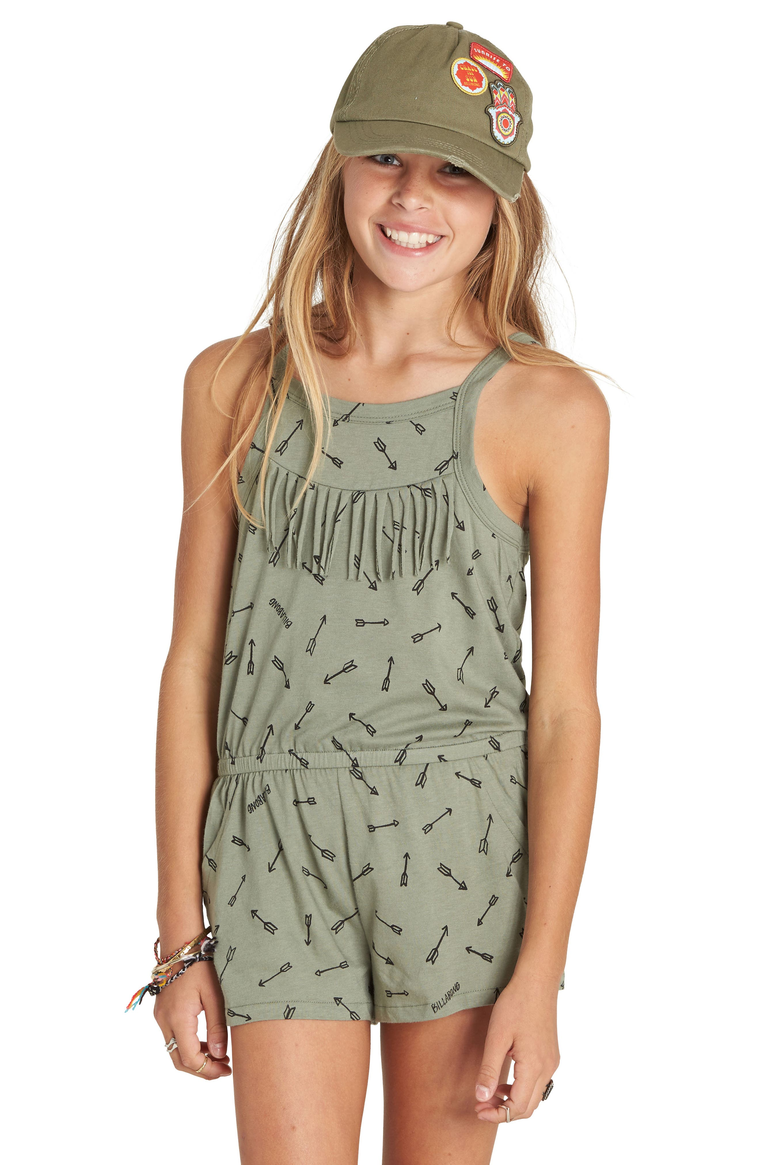 Love Forever Print Romper,                         Main,                         color,