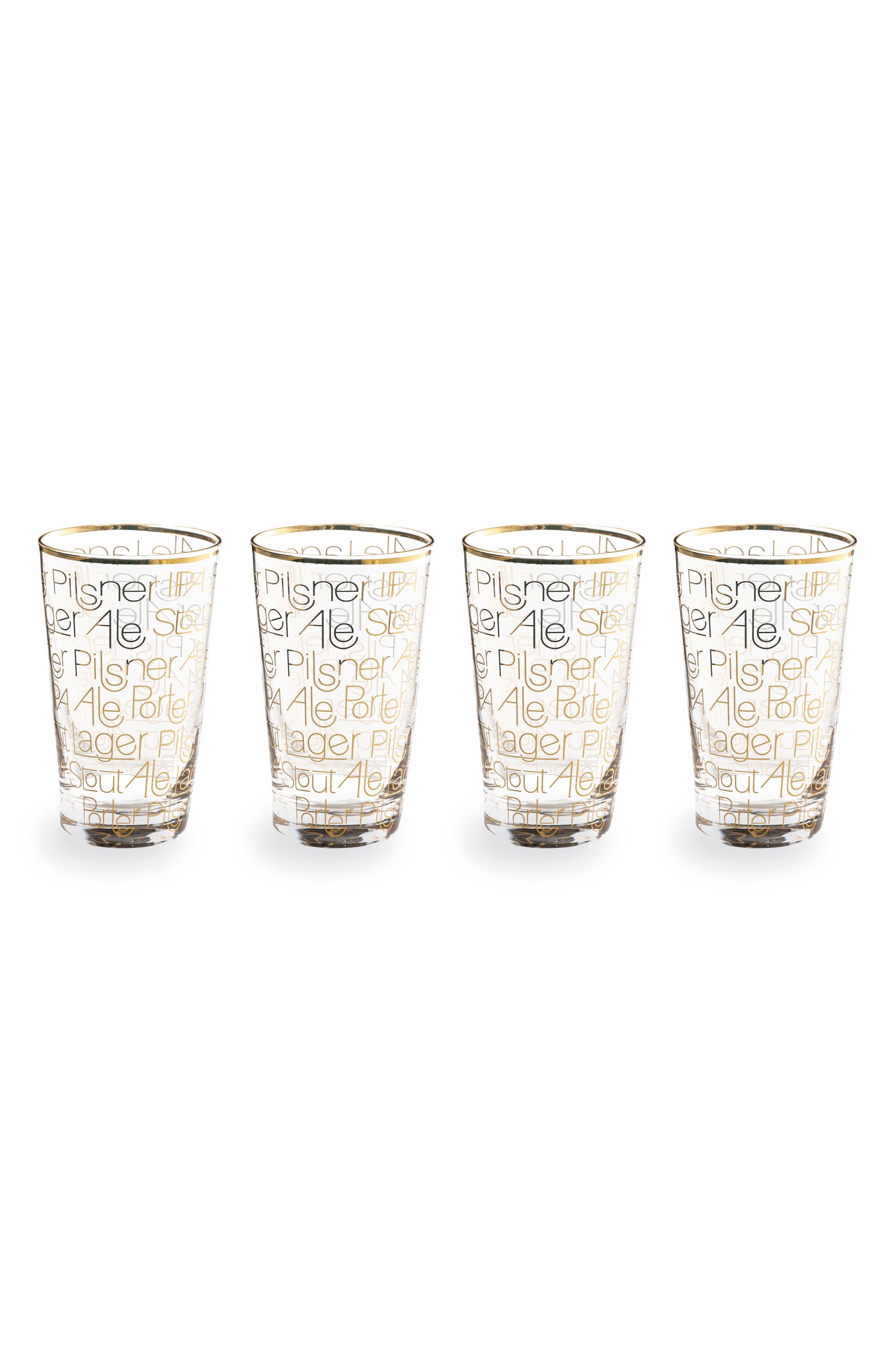 Set of 4 Pint Glasses,                             Main thumbnail 1, color,                             CLEAR