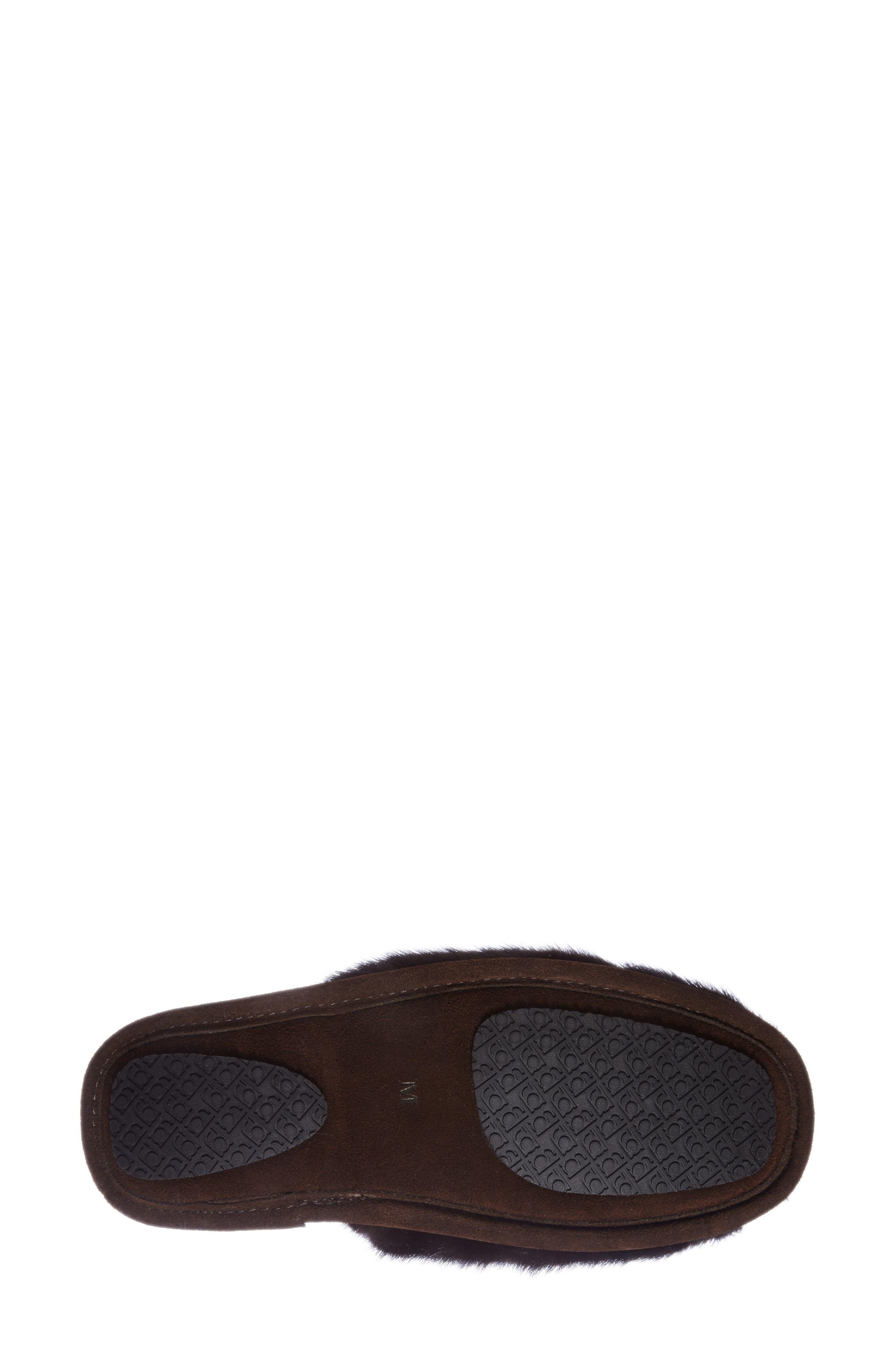 'Whistler' Genuine Mink Fur Slipper,                             Alternate thumbnail 4, color,                             215