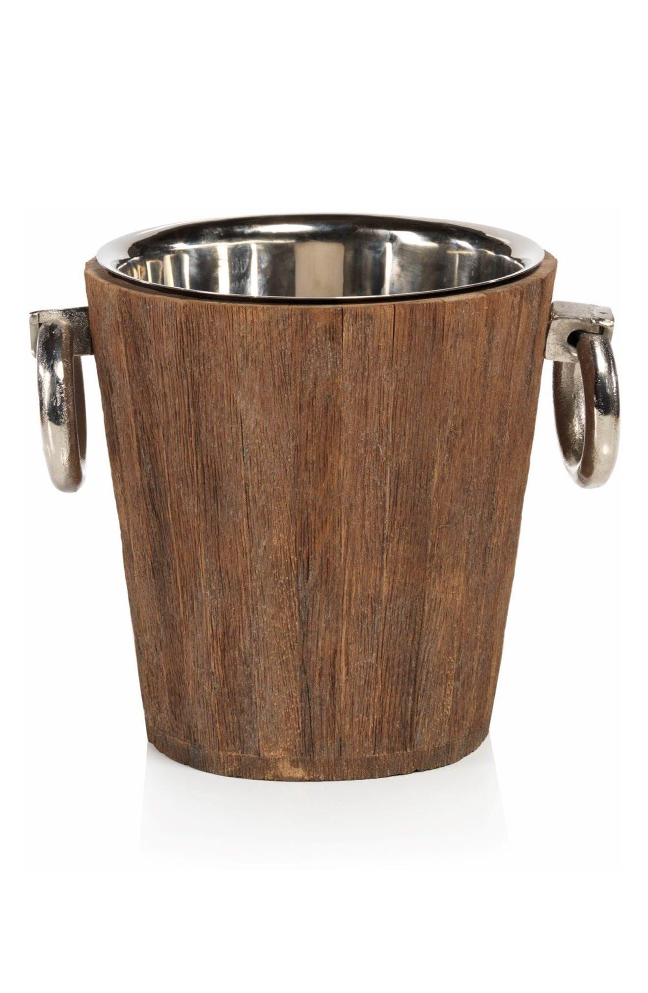 Hagron Wood Ice Bucket,                         Main,                         color, 200