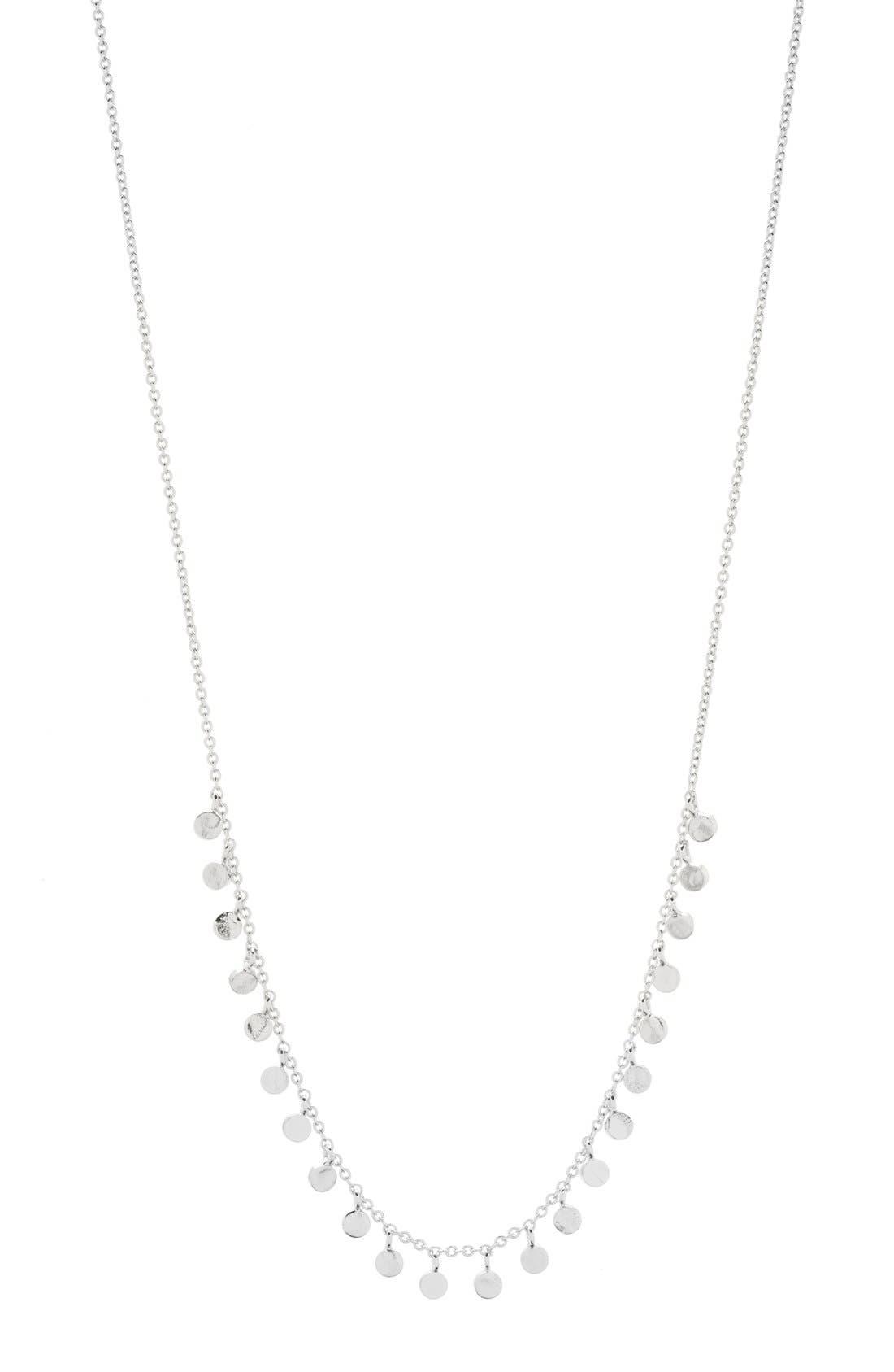 'Chloe' Mini Strand Necklace,                         Main,                         color, SILVER