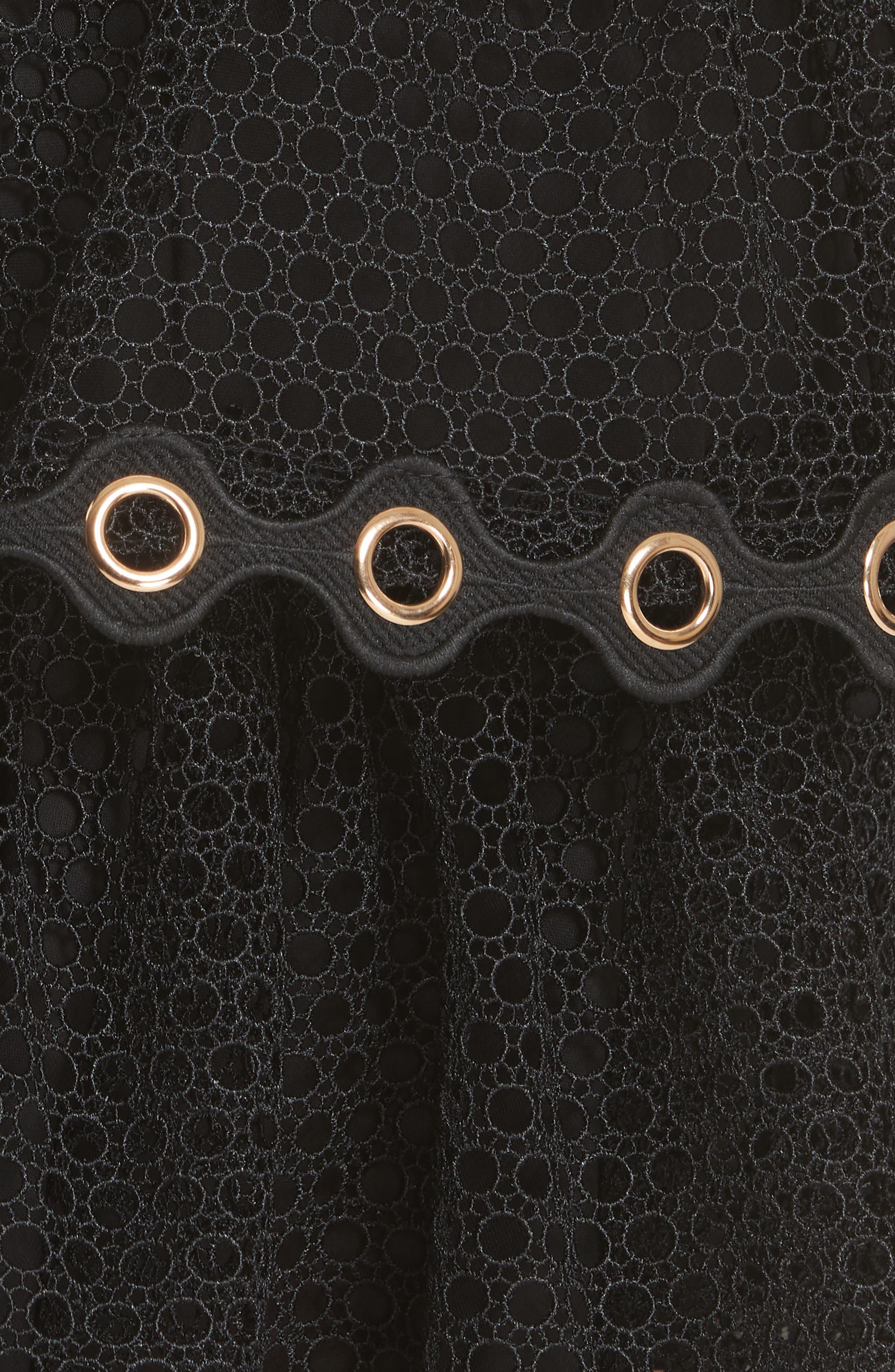 James Tiered Ruffle Grommet Skirt,                             Alternate thumbnail 5, color,