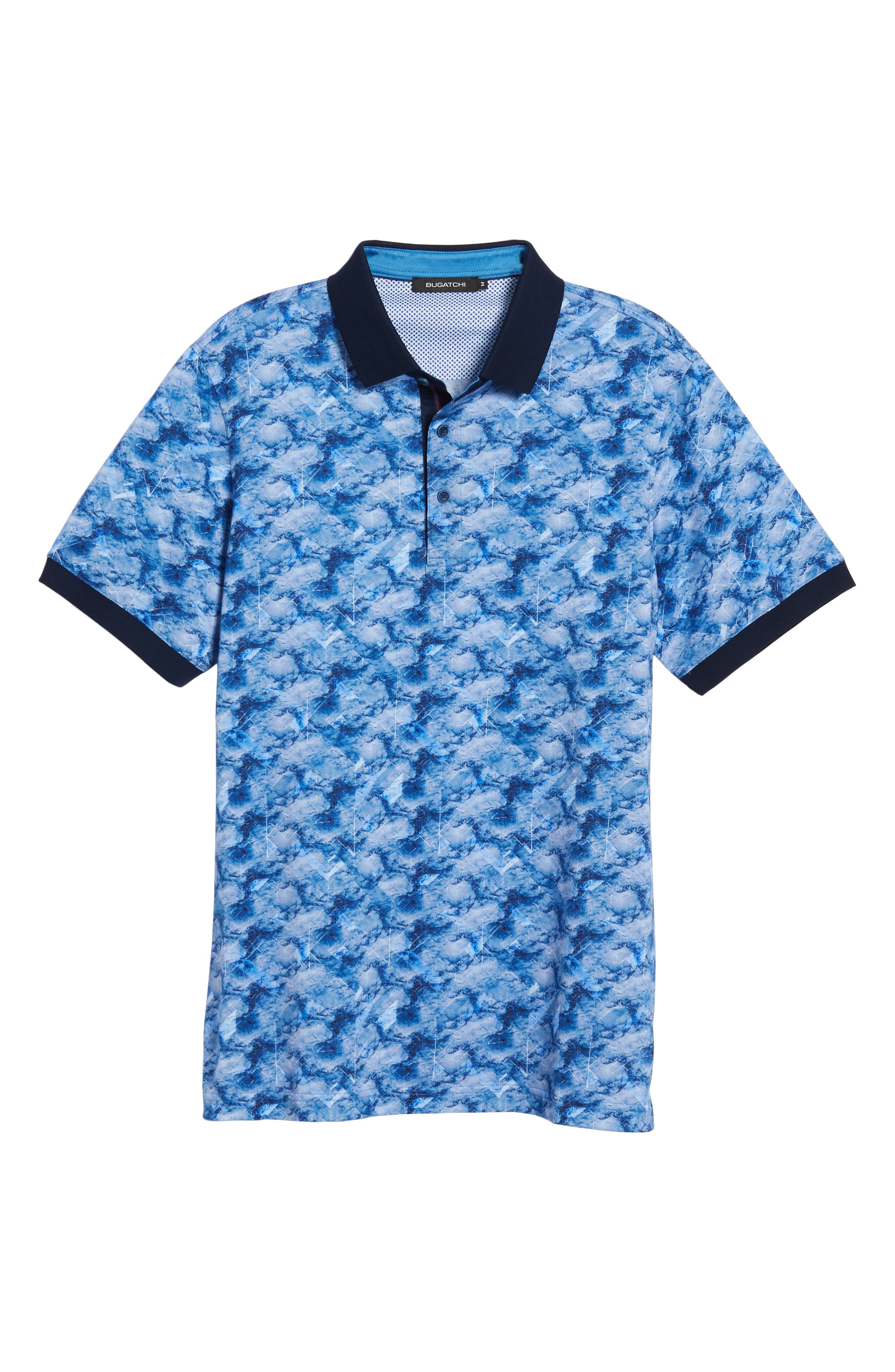 Abstract Print Piqué Polo,                             Alternate thumbnail 6, color,                             CLASSIC BLUE