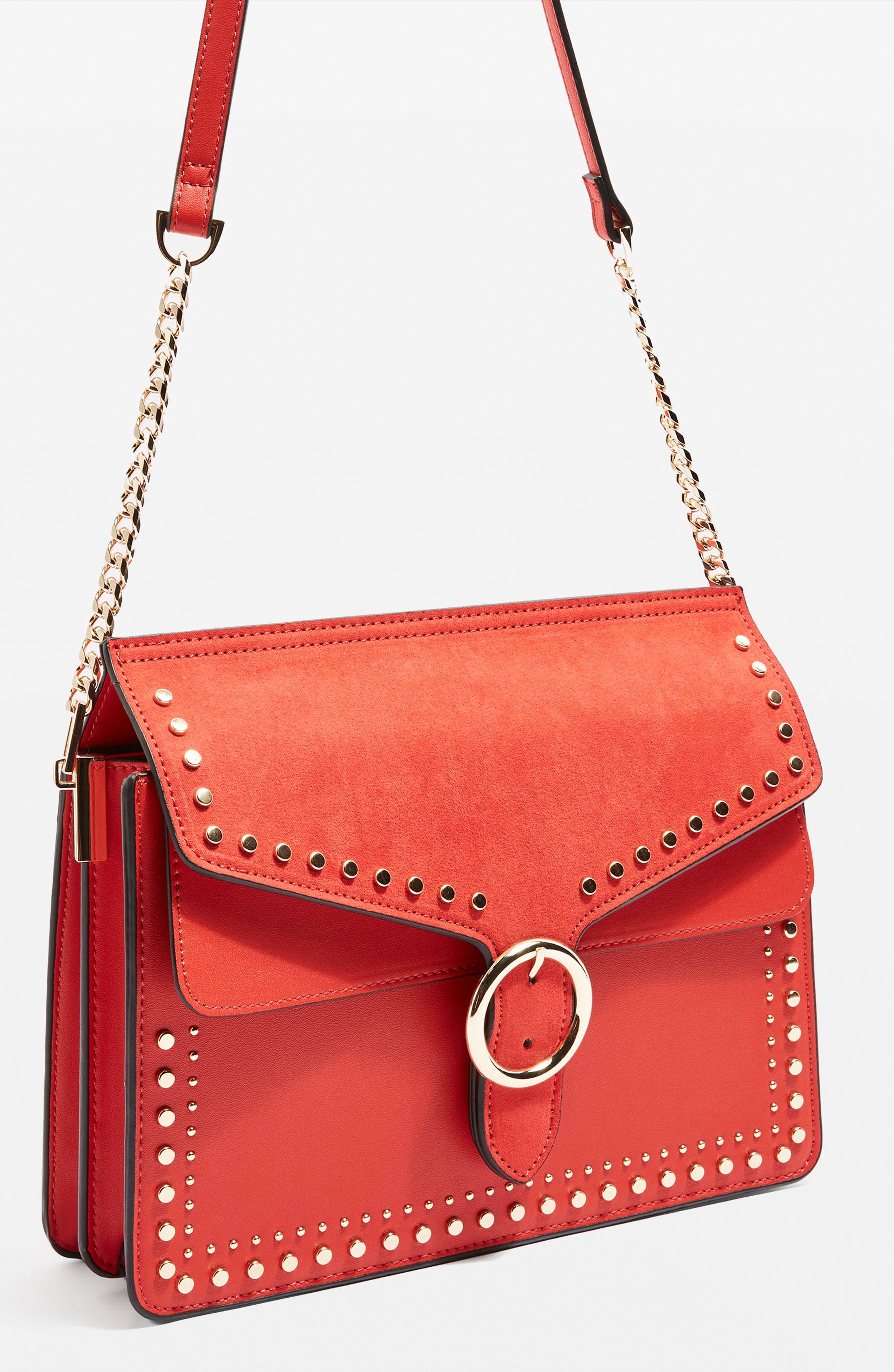 Peony Studded Shoulder Bag,                             Alternate thumbnail 16, color,