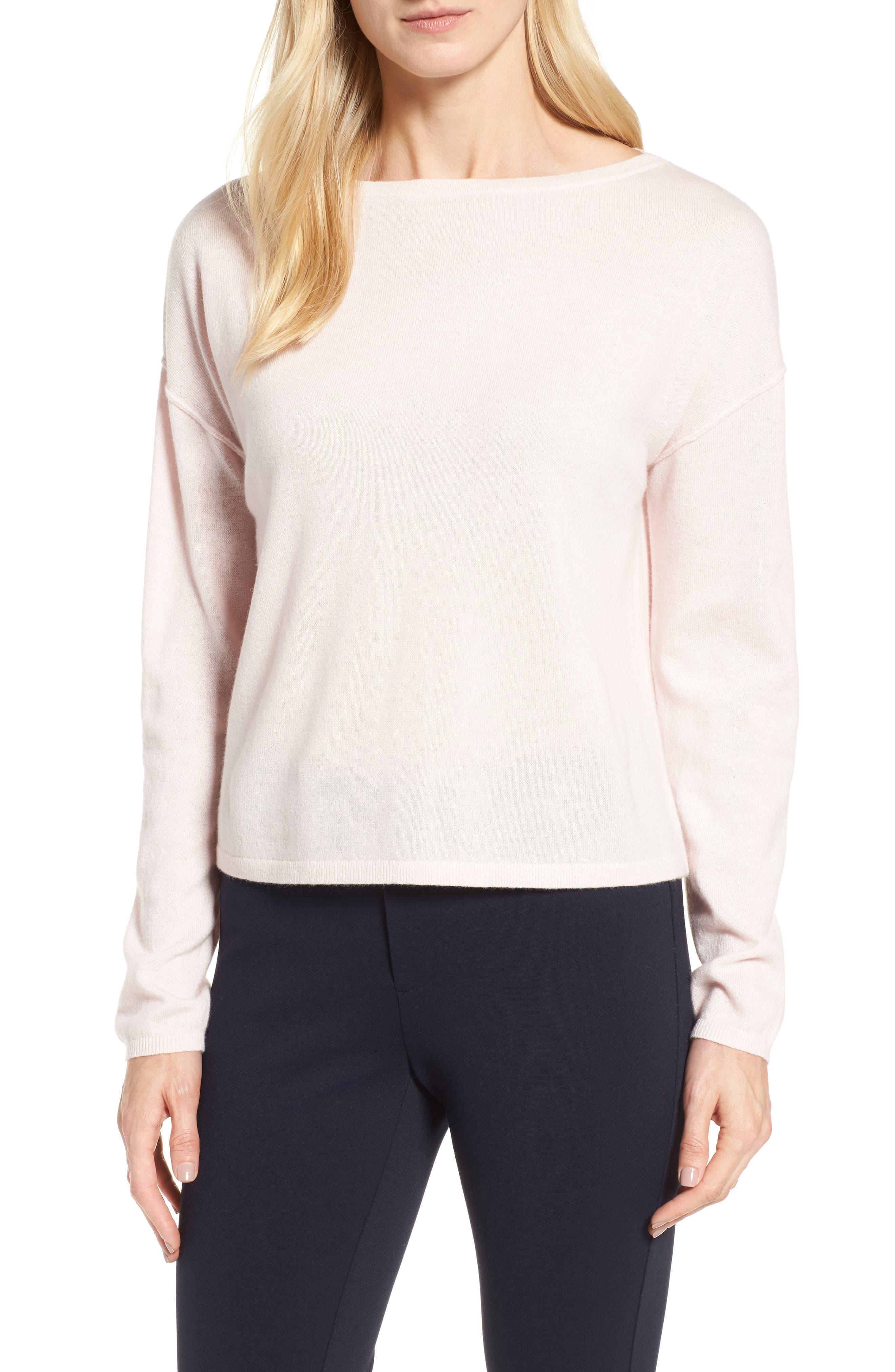 Bateau Neck Cashmere Sweater,                         Main,                         color, 680