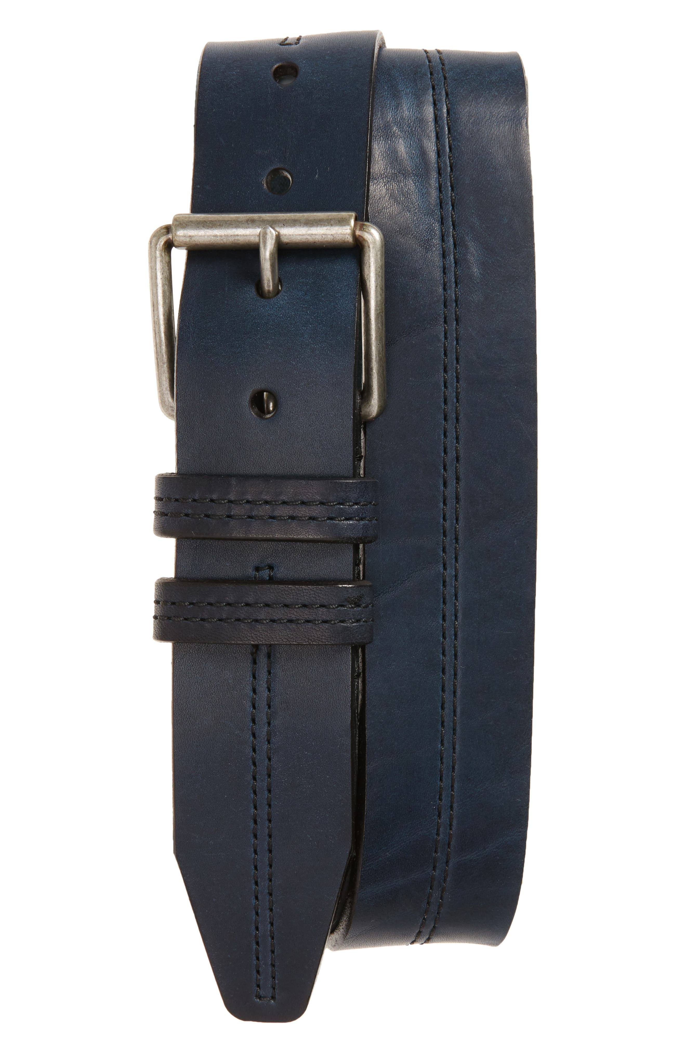 Mason Center Stitch Horween<sup>®</sup> Leather Belt,                             Main thumbnail 3, color,