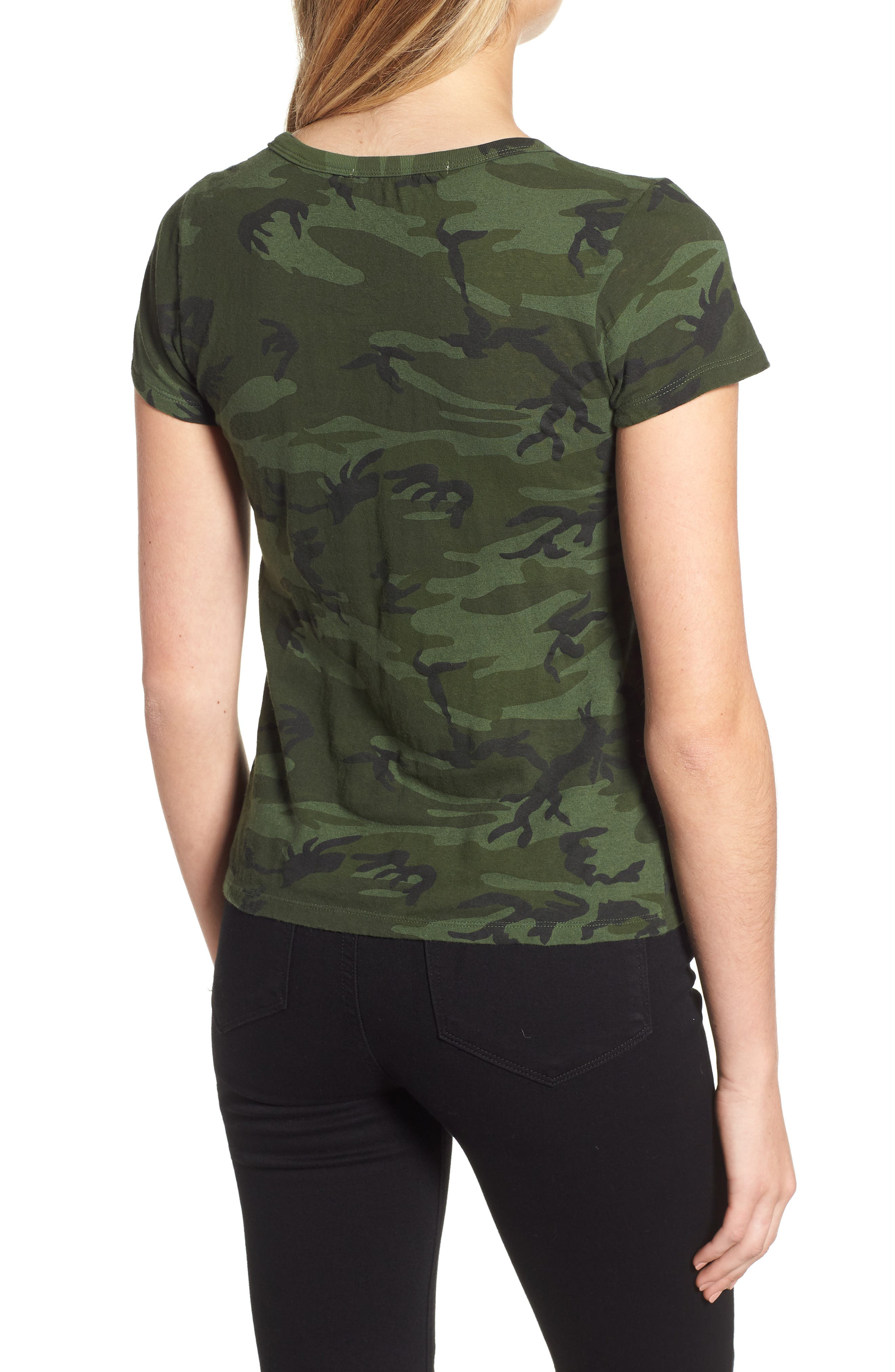 Camo Print Tee,                             Alternate thumbnail 2, color,                             371
