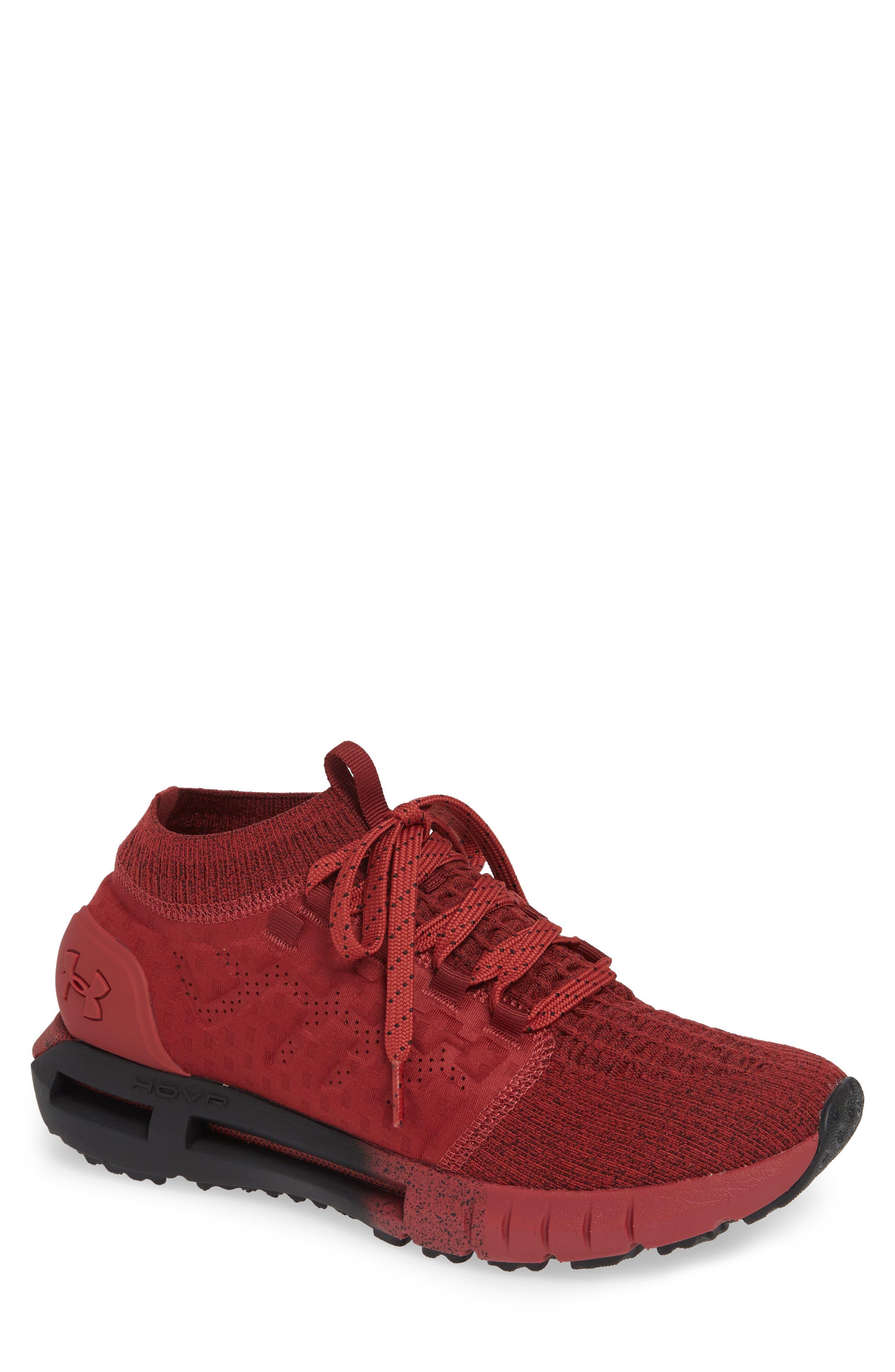UNDER ARMOUR Men'S Hovr Phantom Running Sneakers From Finish Line in Brick Red / Black / Brick