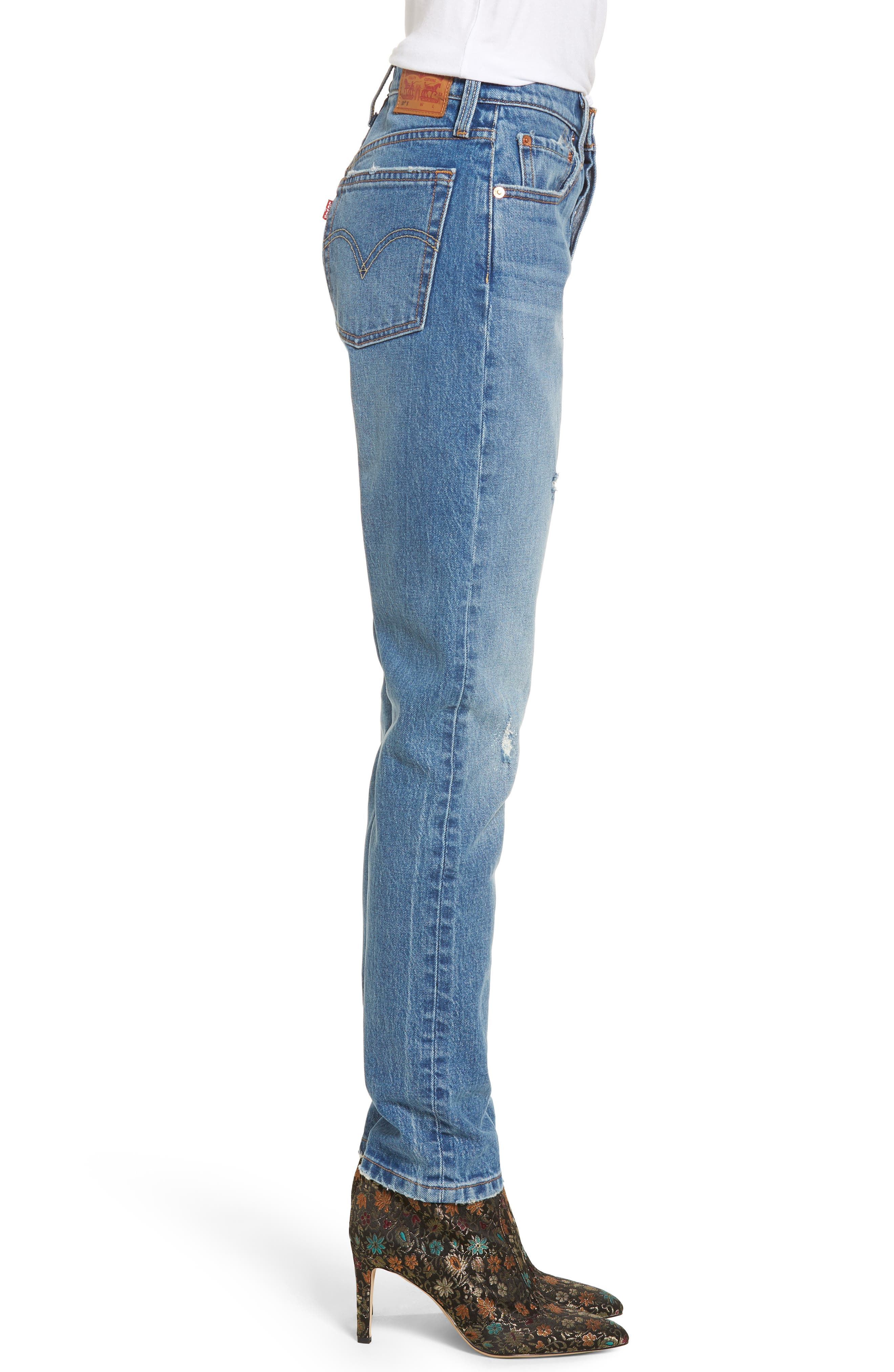 501 High Waist Skinny Jeans,                             Alternate thumbnail 3, color,