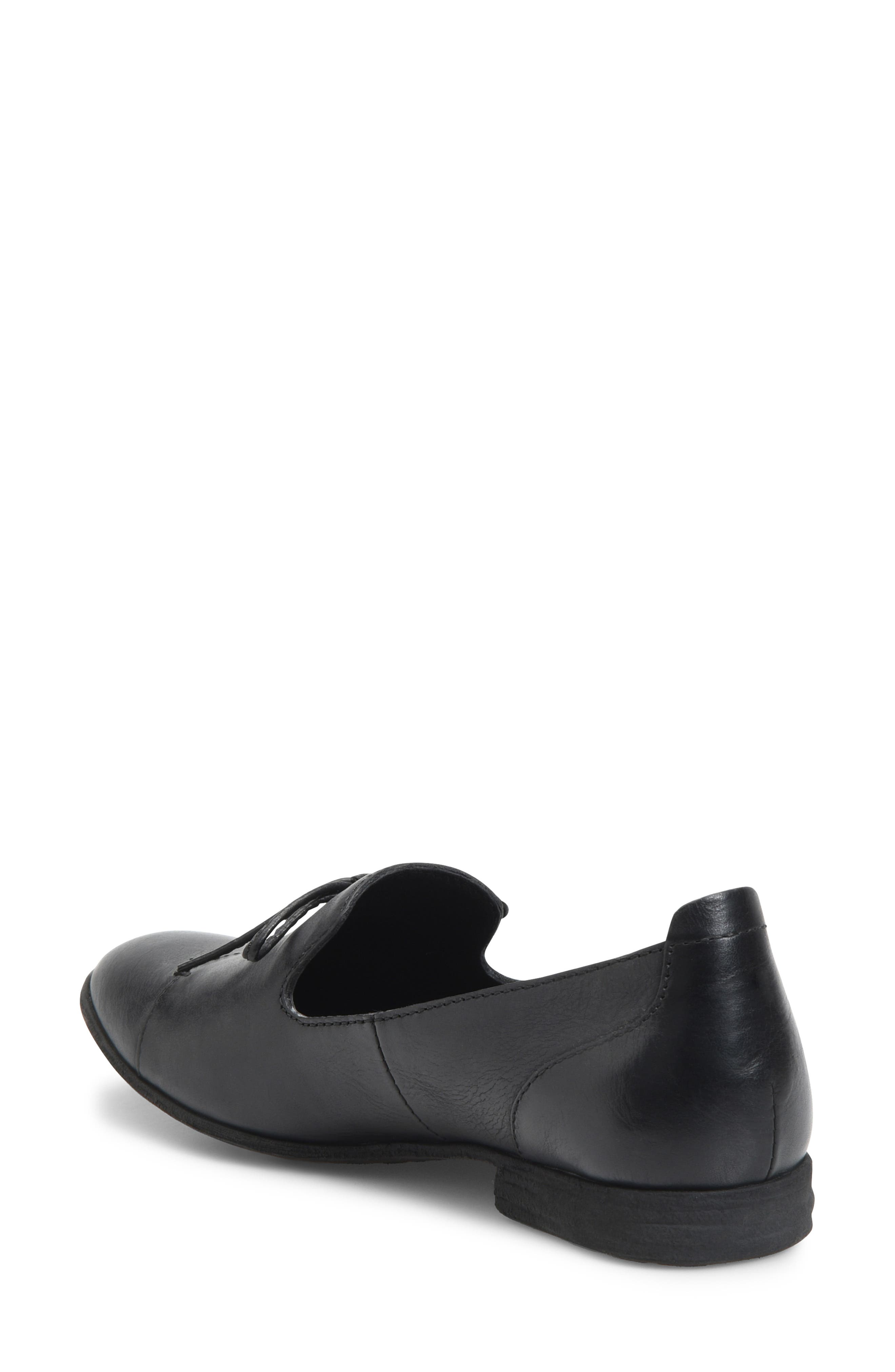 Gallatin Loafer,                             Alternate thumbnail 2, color,                             BLACK LEATHER