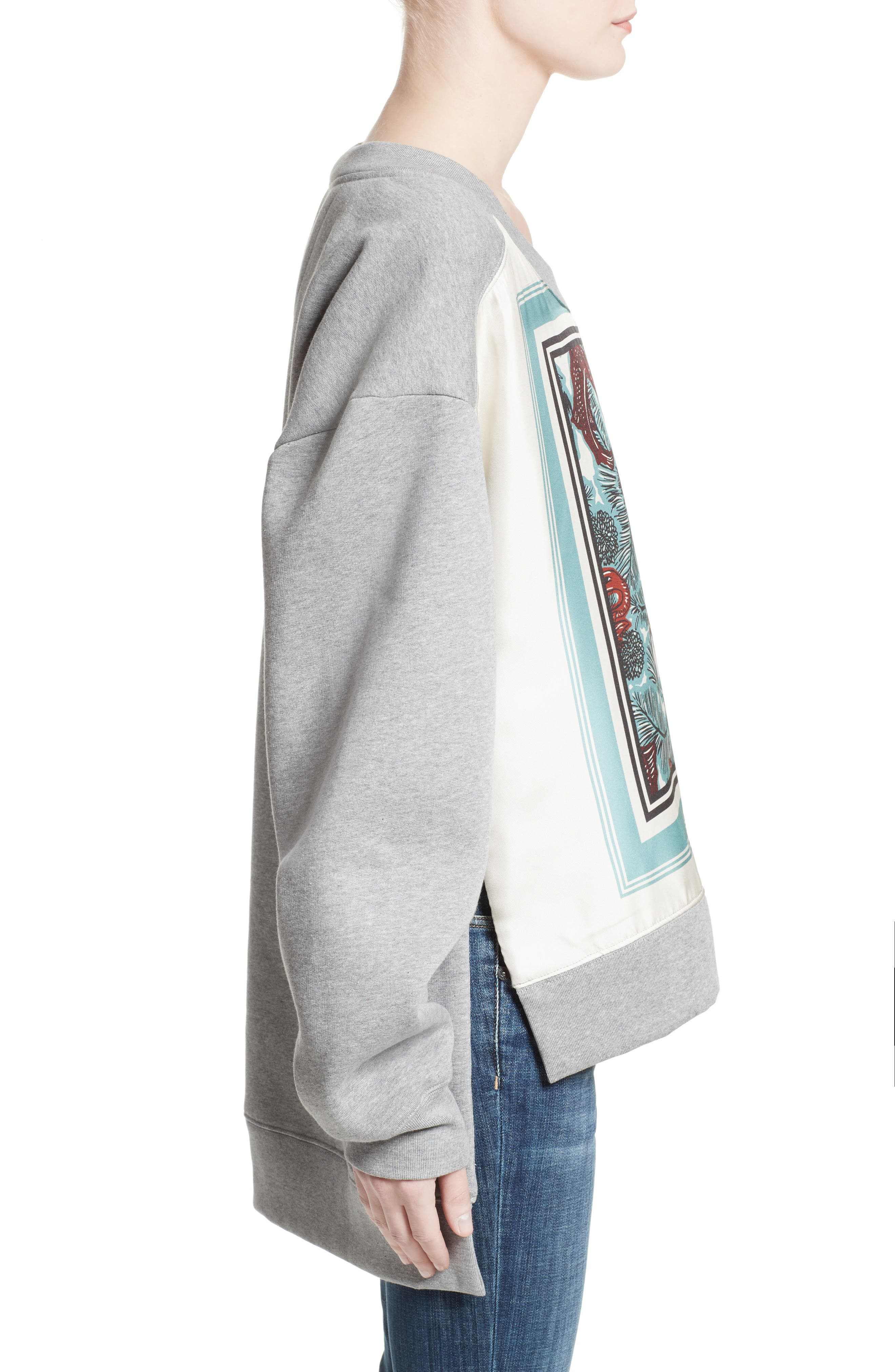 Mente Graphic High/Low Sweatshirt,                             Alternate thumbnail 3, color,