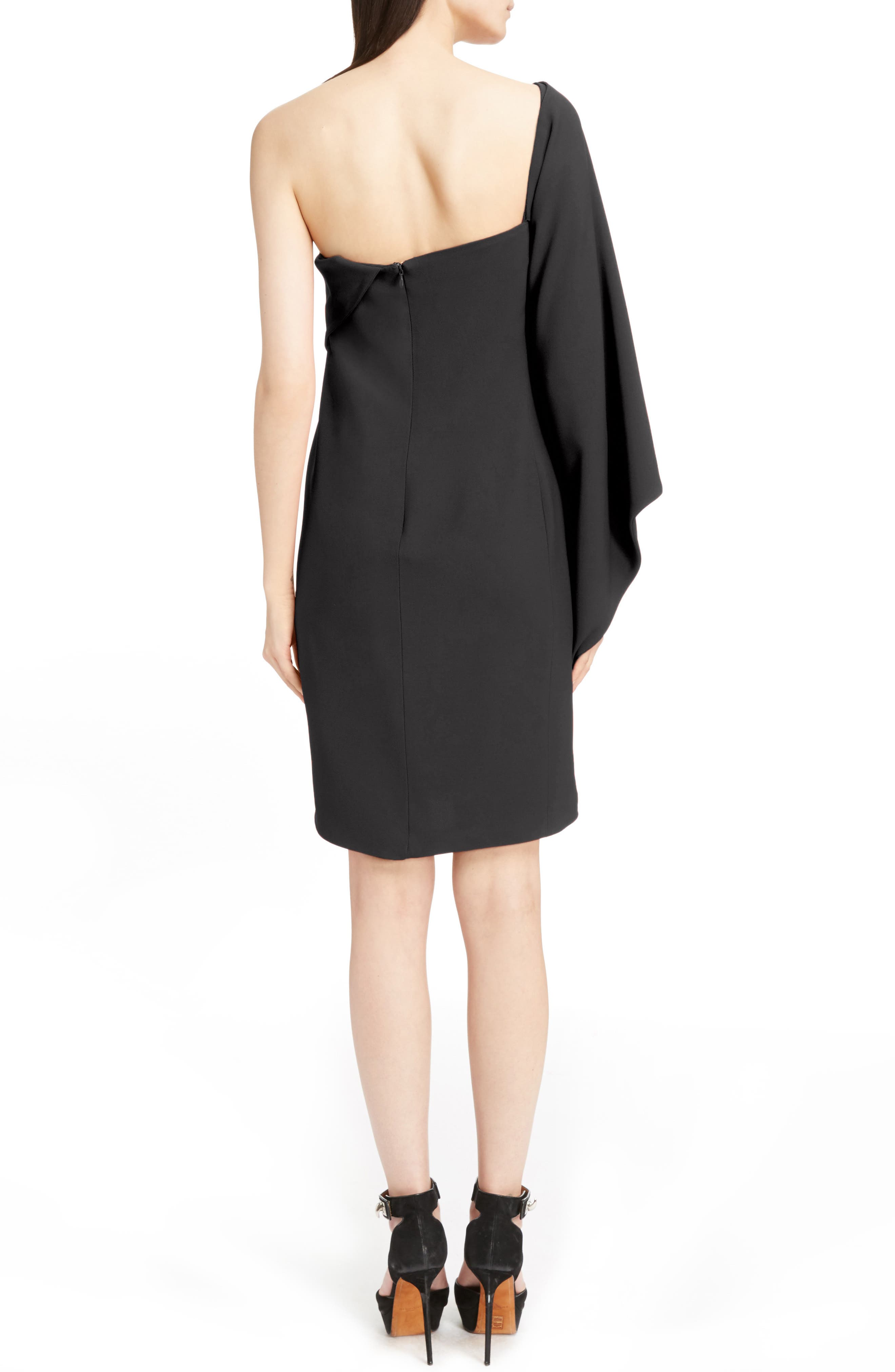 Stretch Cady Cape Dress,                             Alternate thumbnail 2, color,