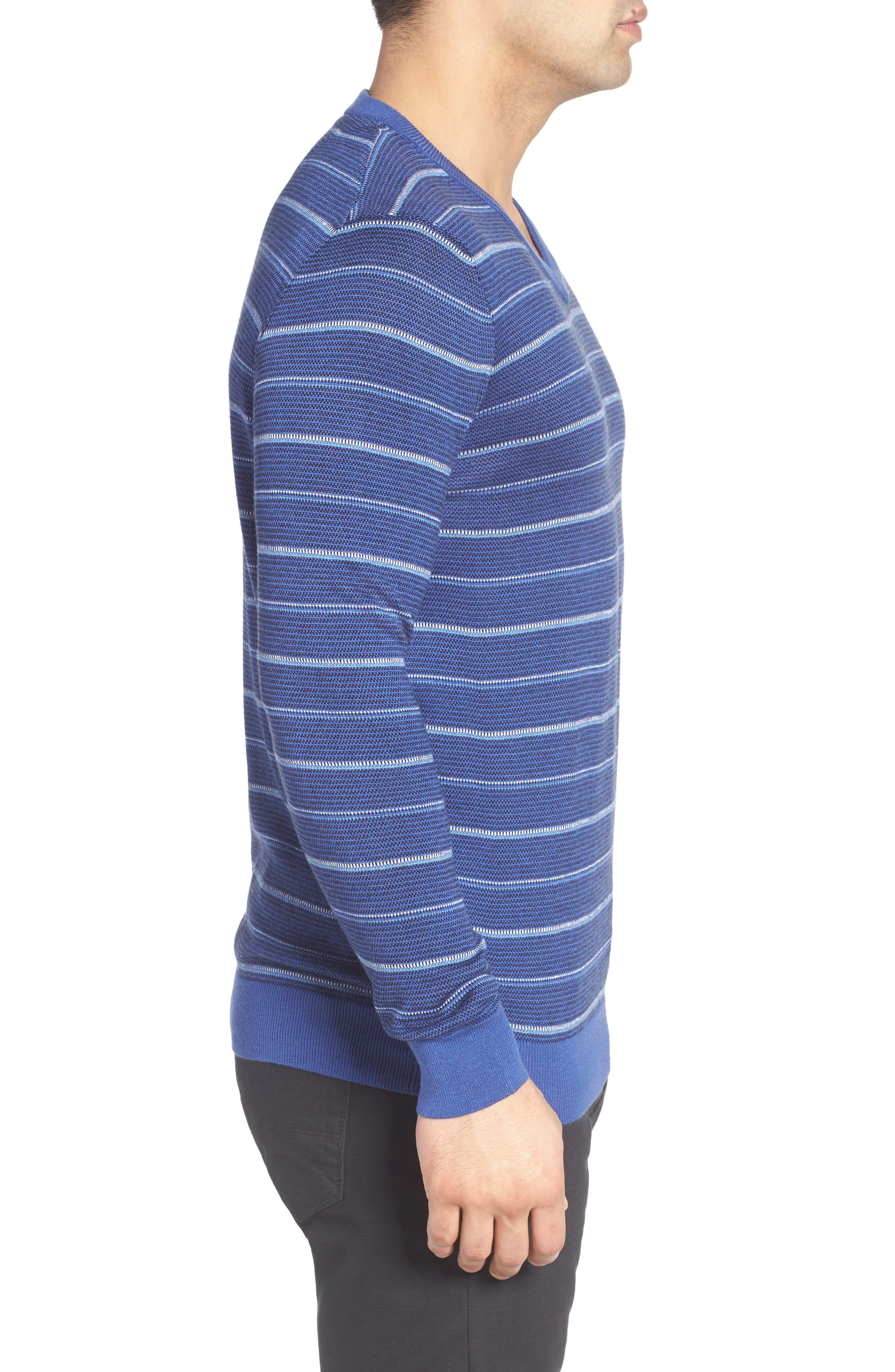 Stripe Silk Blend Sweater,                             Alternate thumbnail 3, color,                             411