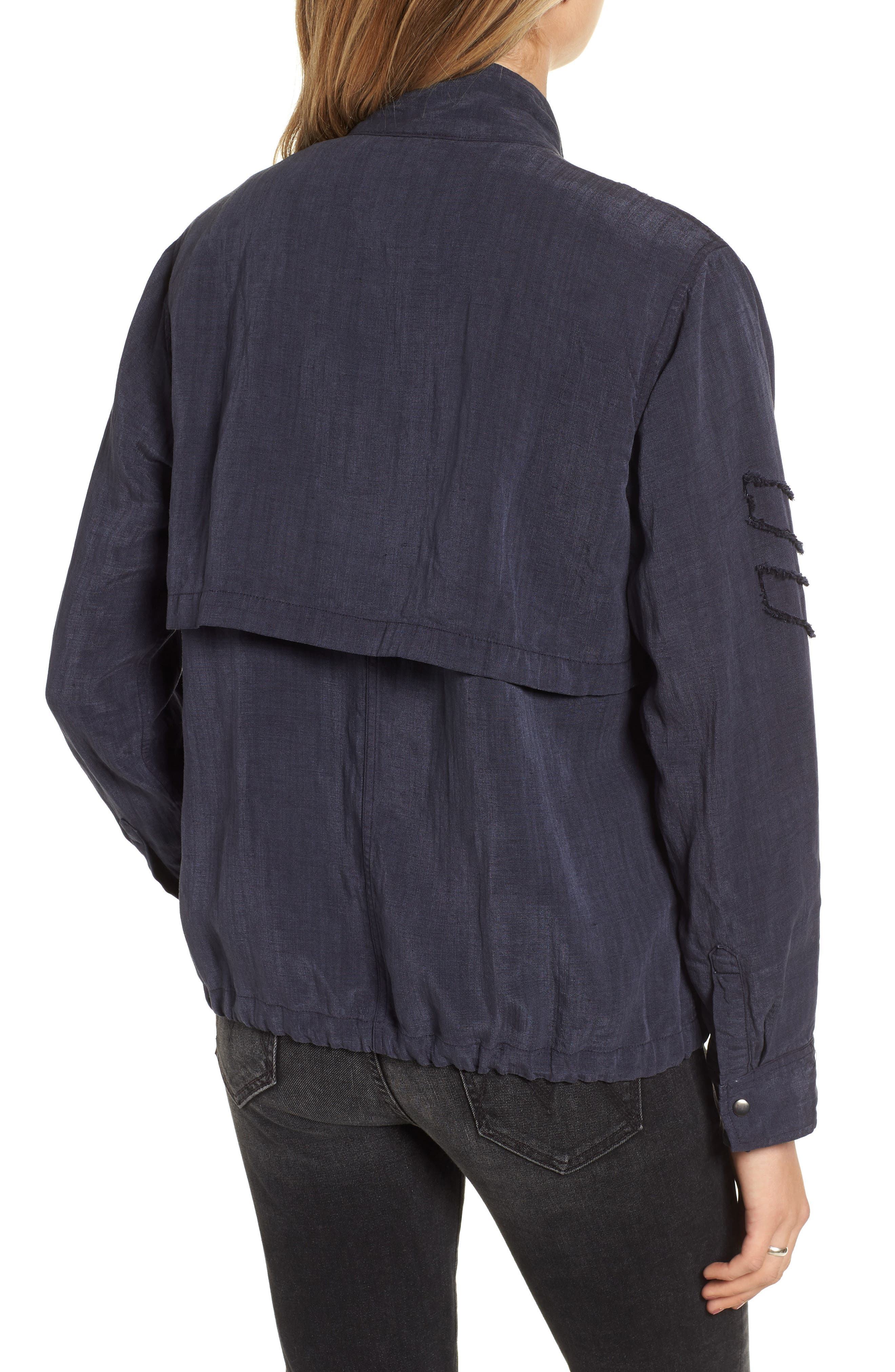 Halifax Drawstring Jacket,                             Alternate thumbnail 2, color,                             NAVY