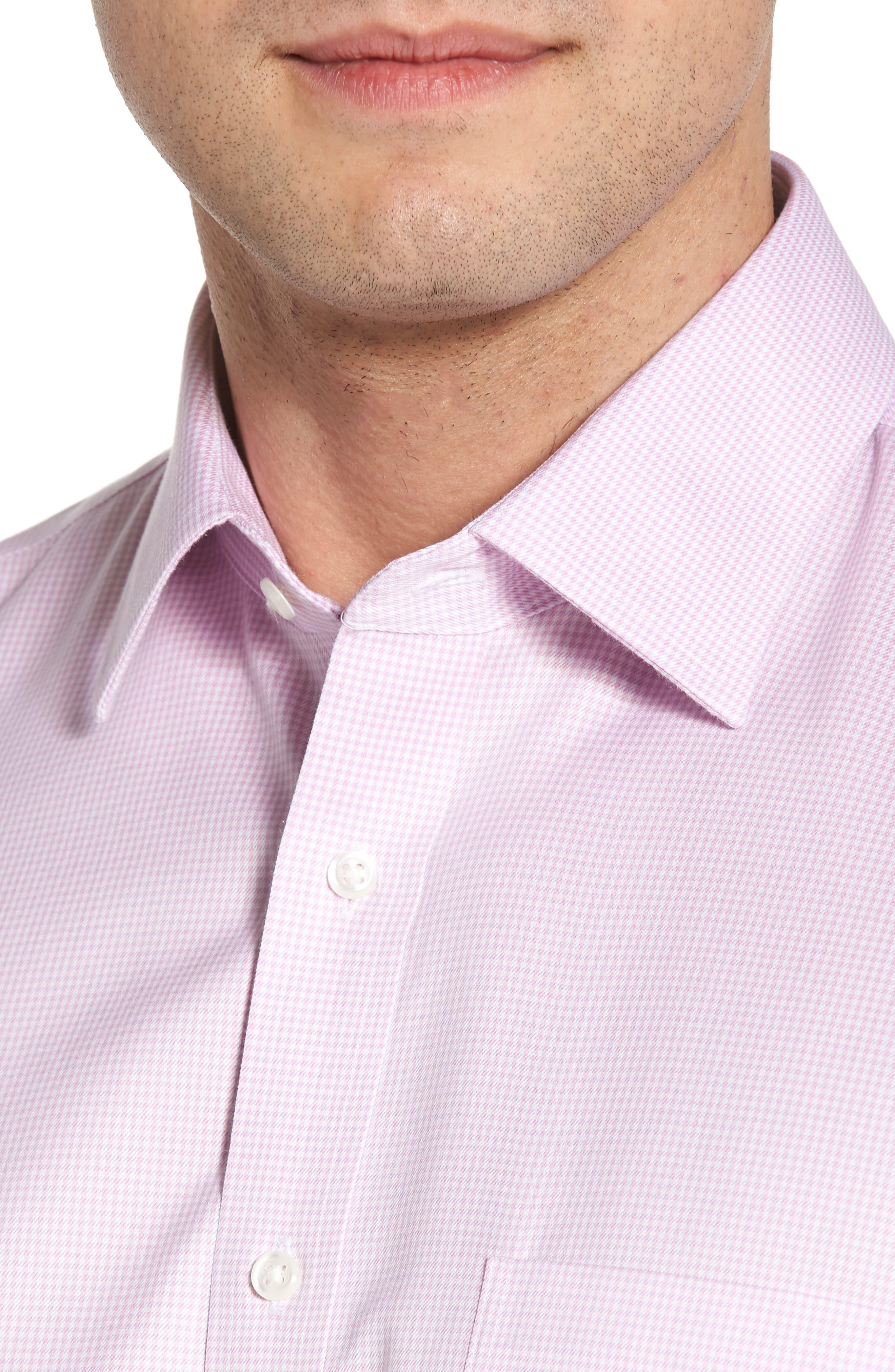 Smartcare<sup>™</sup> Traditional Fit Stripe Dress Shirt,                             Alternate thumbnail 6, color,