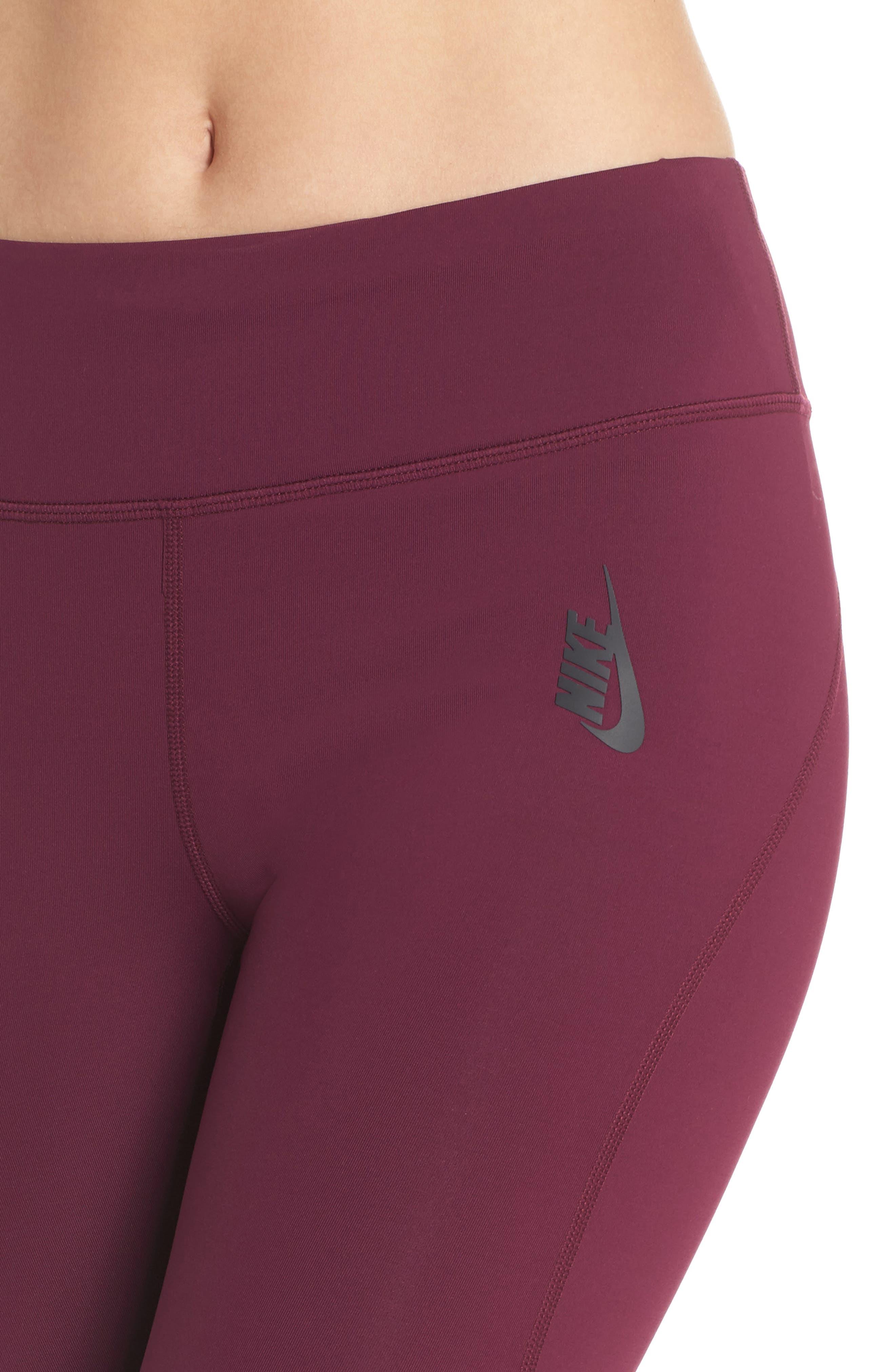 NikeLab Collection Dri-FIT Women's Tights,                             Alternate thumbnail 4, color,                             BORDEAUX