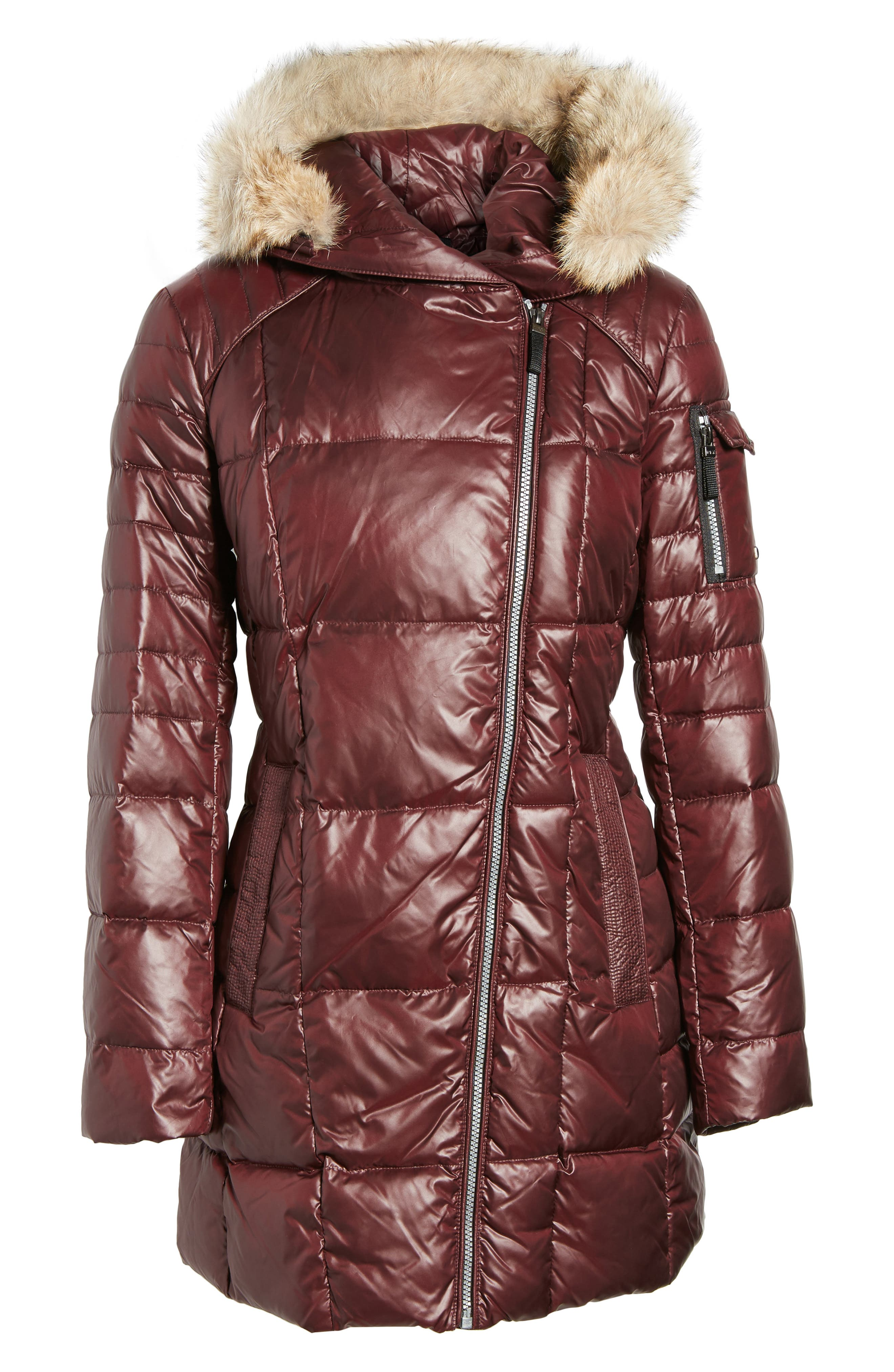 Down & Feather Fill Coat with Genuine Coyote Fur,                             Alternate thumbnail 15, color,