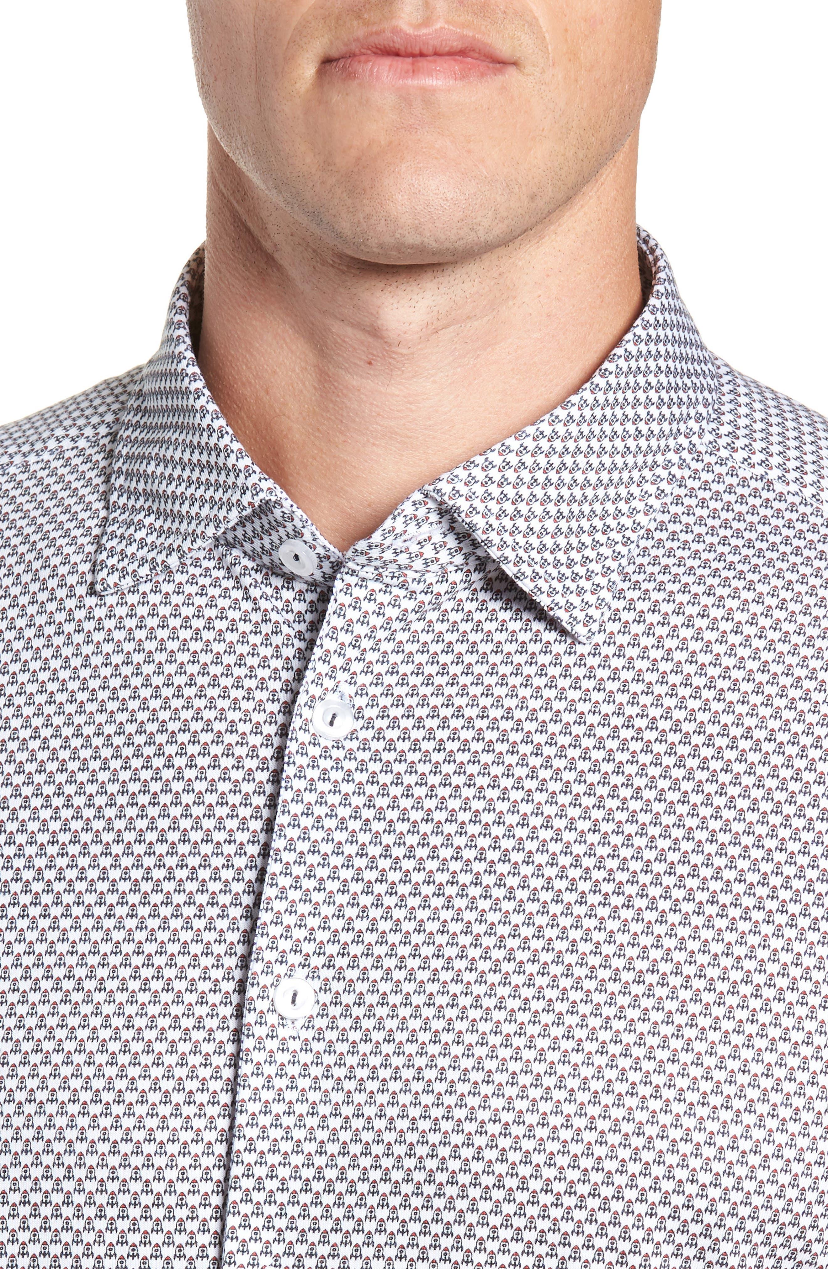 Regular Fit Sport Shirt,                             Alternate thumbnail 2, color,                             WHITE