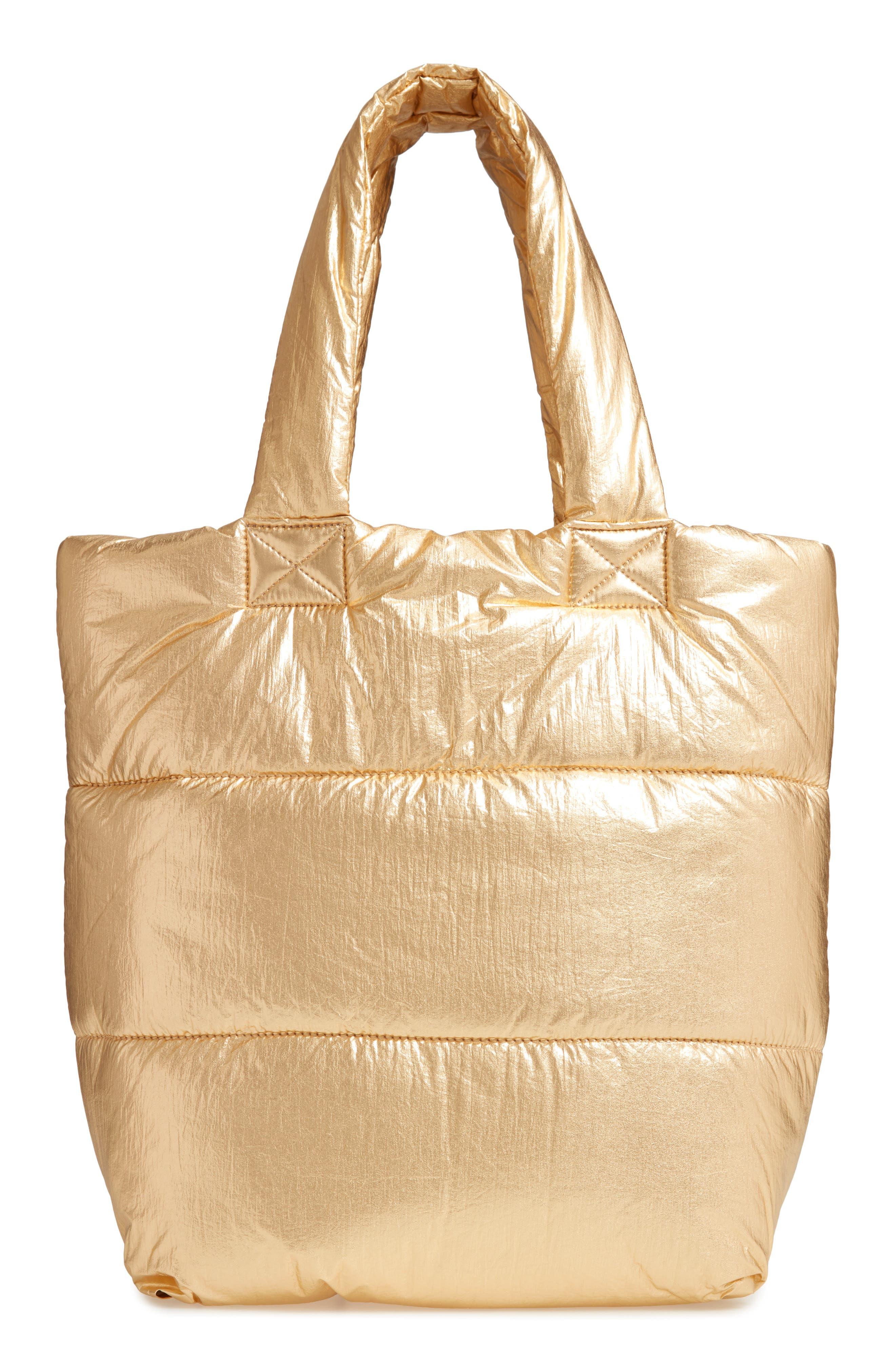 Peri Nylon Tote,                         Main,                         color, GOLD
