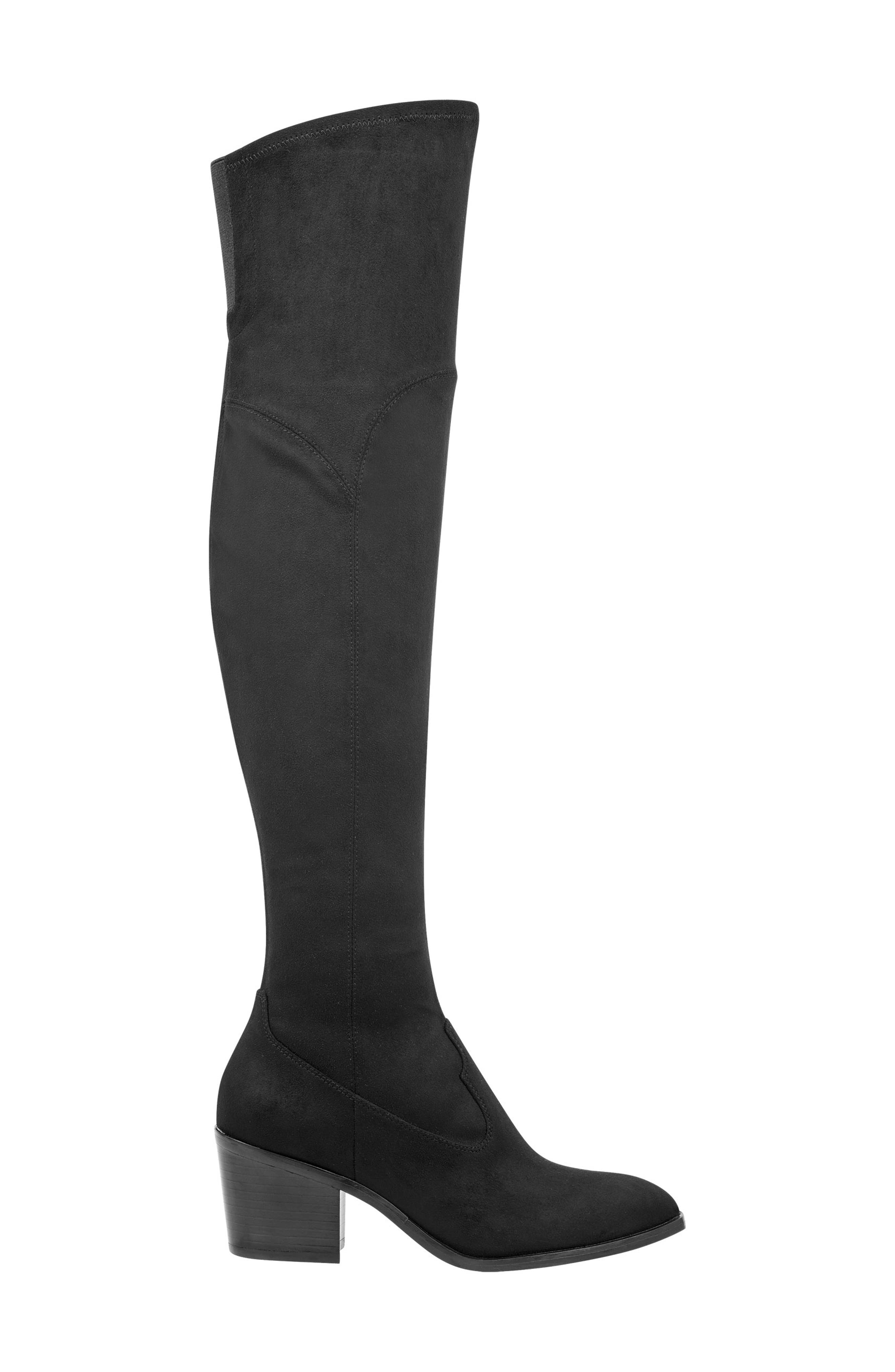 Rossa Over the Knee Boot,                             Alternate thumbnail 3, color,                             BLACK SUEDE