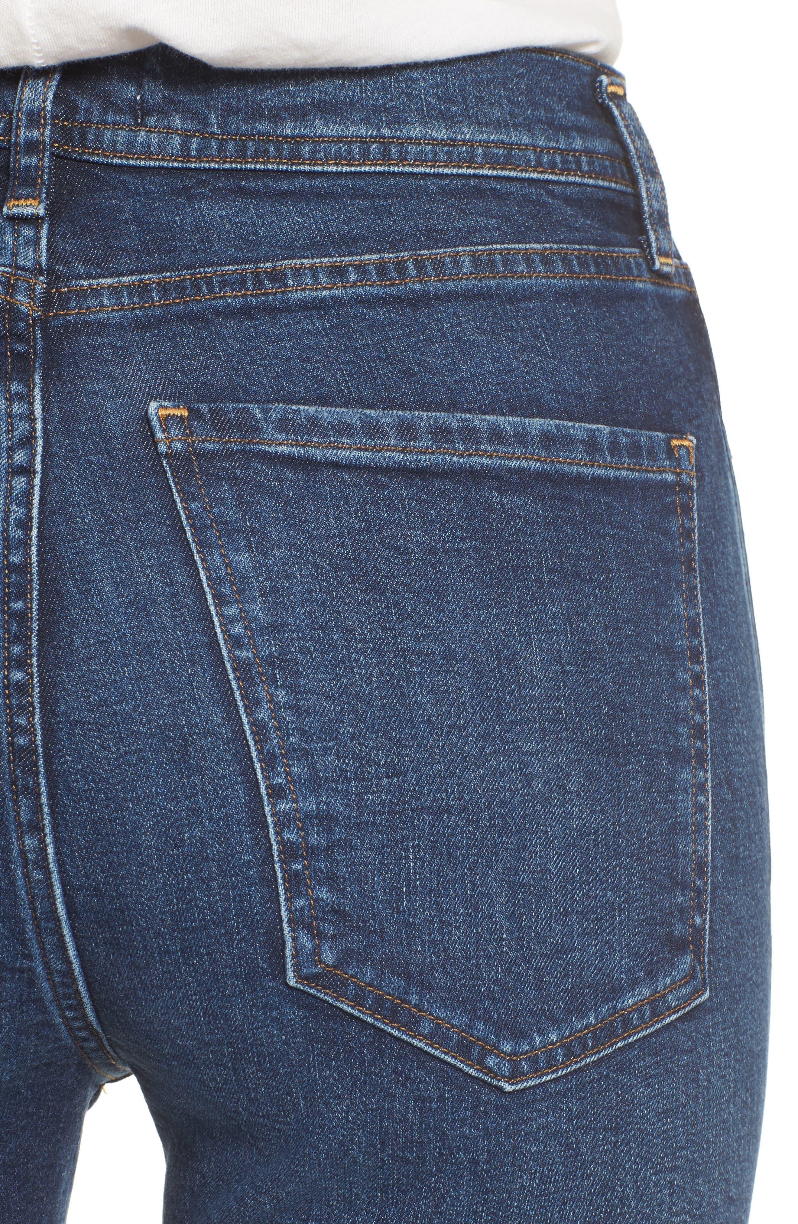 Roxanne Super High Rise Skinny Jeans,                             Alternate thumbnail 4, color,