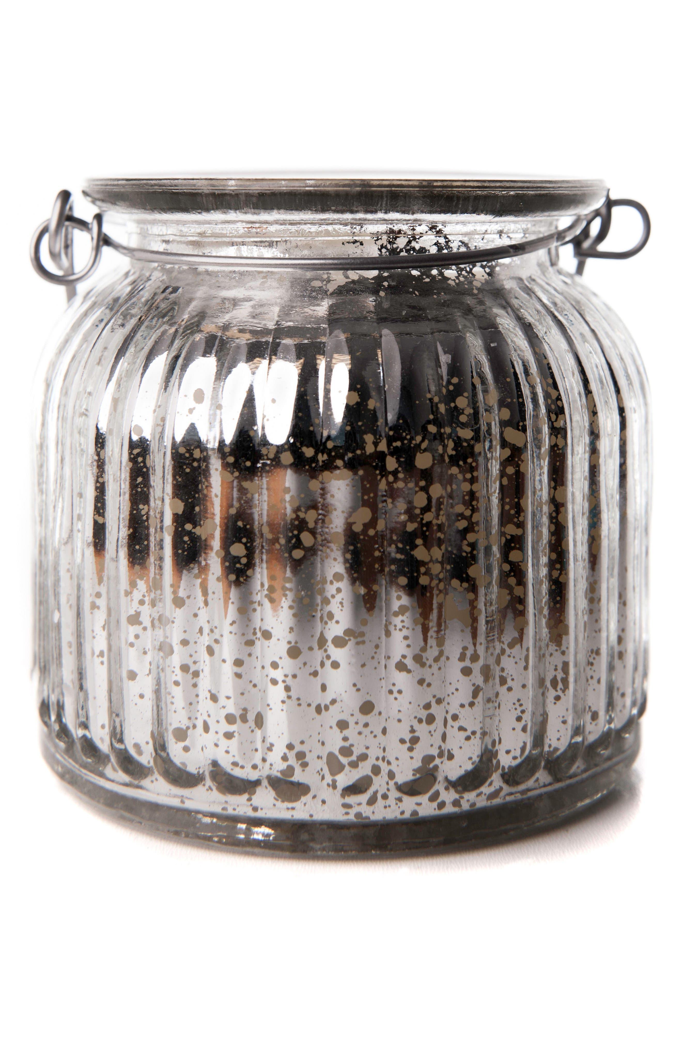 Mercury Glass Jar Flameless Candle,                             Main thumbnail 1, color,                             040