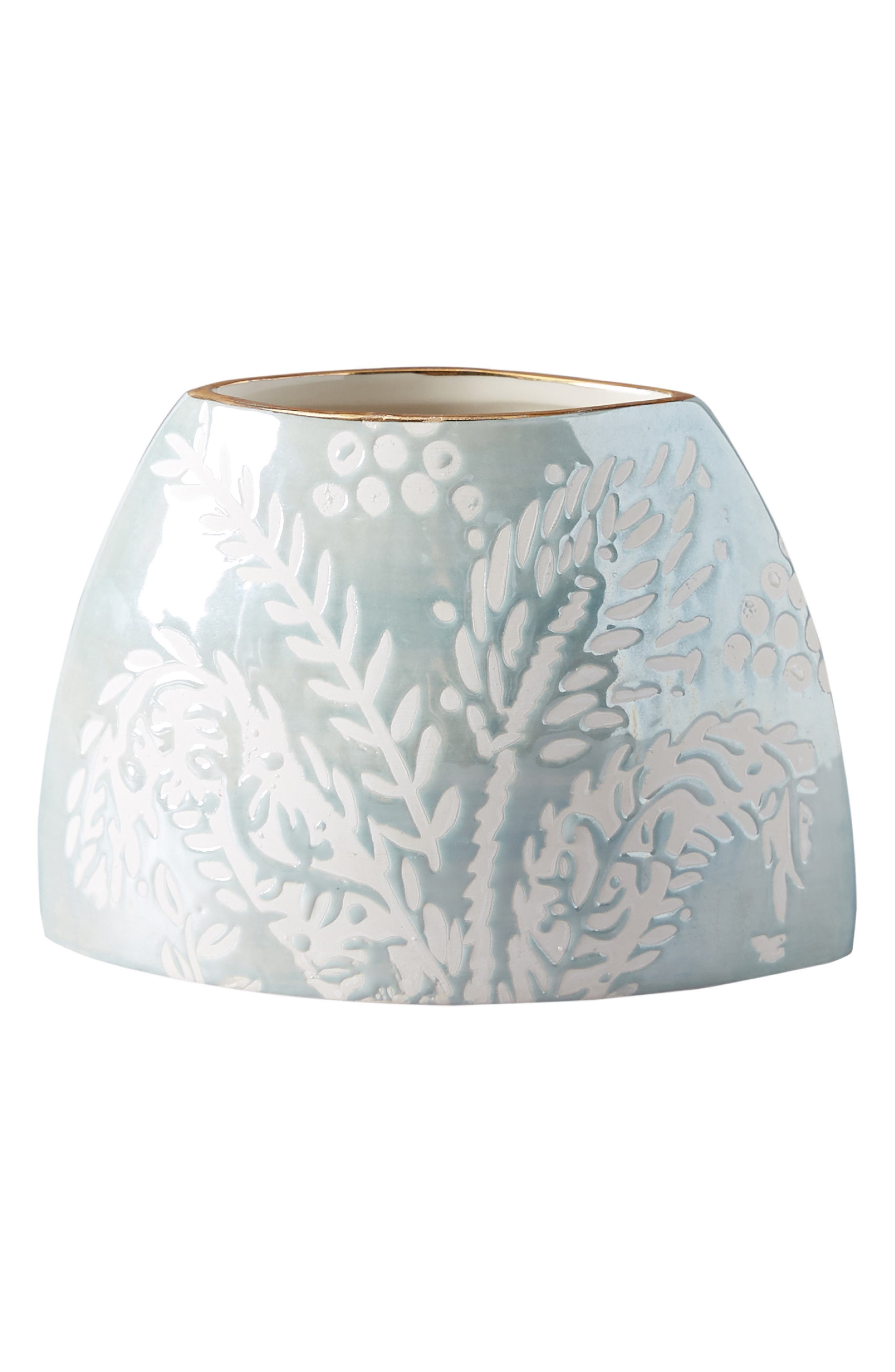ANTHROPOLOGIE,                             Holly Vase,                             Alternate thumbnail 3, color,                             BLUE