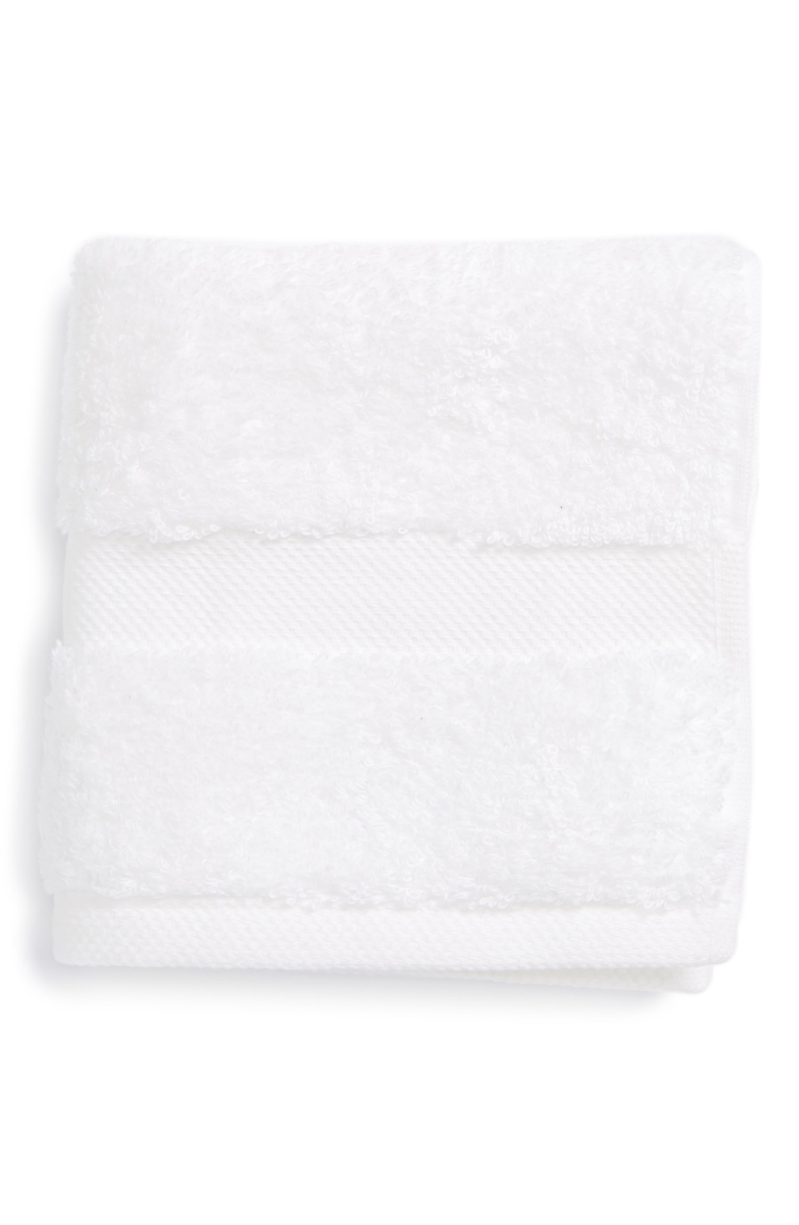 Lotus Washcloth,                         Main,                         color, WHITE