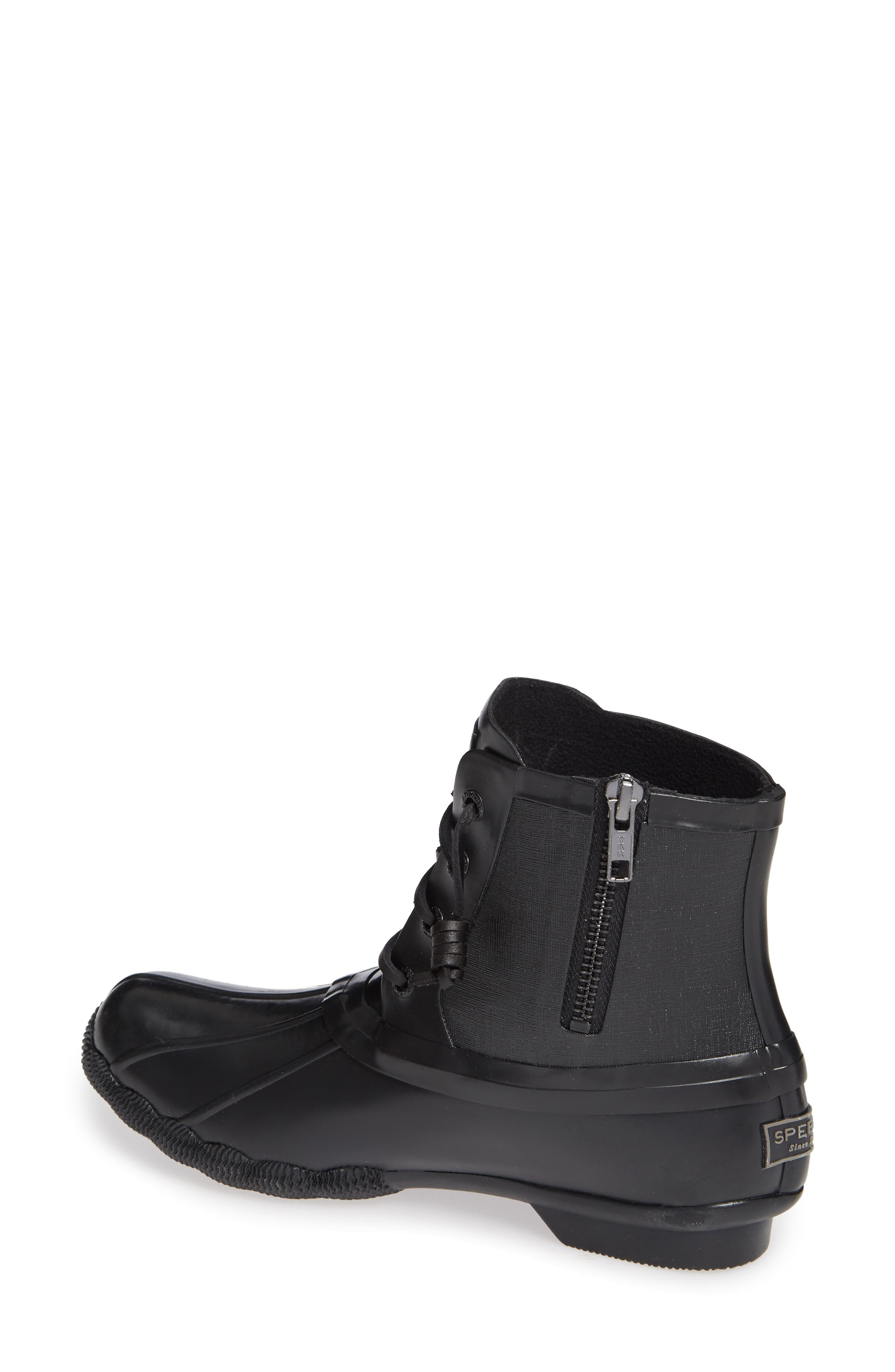 Flooded Rubber Saltwater Bootie,                             Alternate thumbnail 2, color,                             BLACK