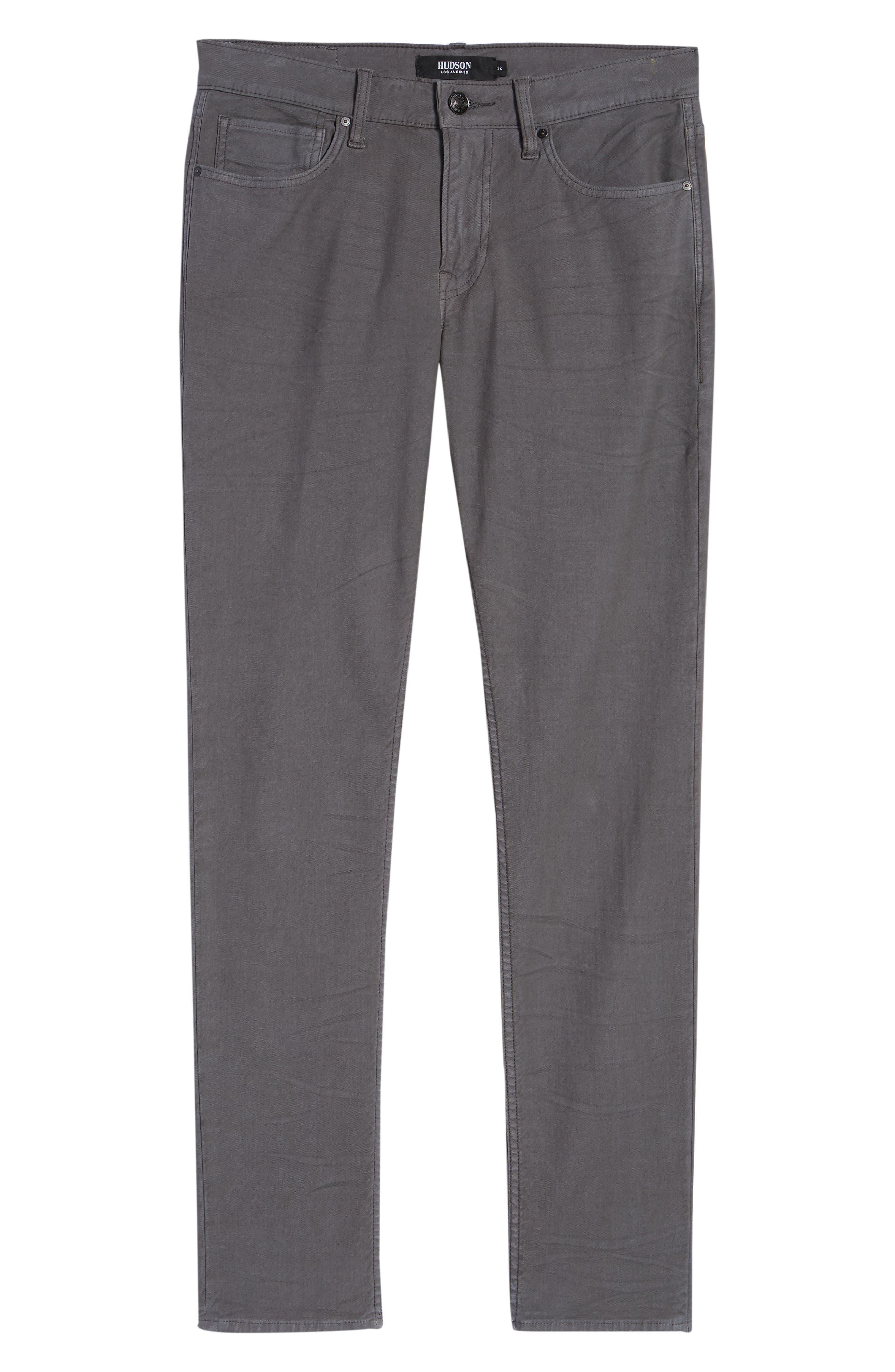 Hudson Axl Skinny Fit Jeans,                             Alternate thumbnail 6, color,                             GRAPHITE
