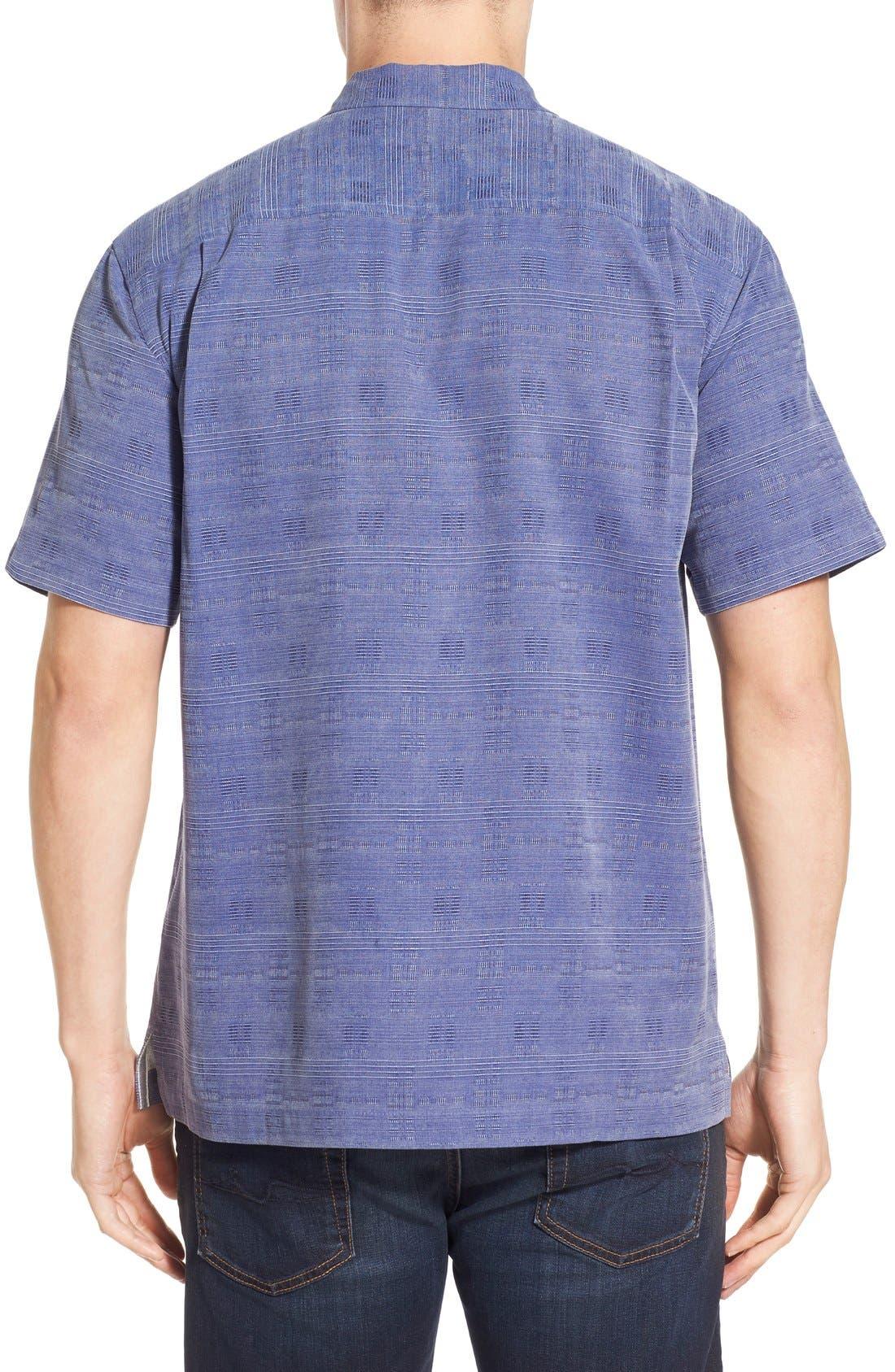 'Geo-Rific Jacquard' Original Fit Silk Camp Shirt,                             Alternate thumbnail 29, color,
