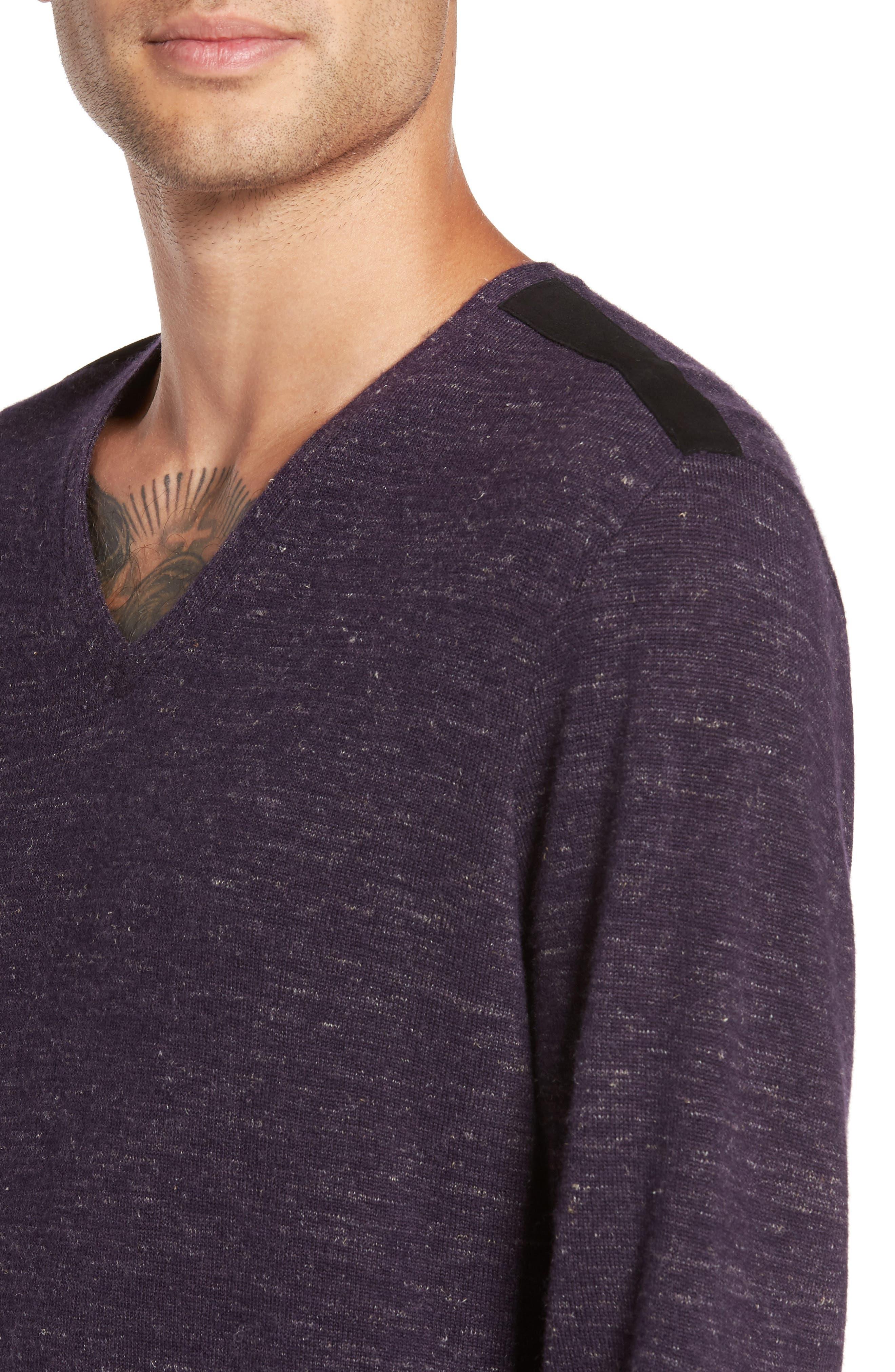 Long Sleeve V-Neck Sweater,                             Alternate thumbnail 12, color,