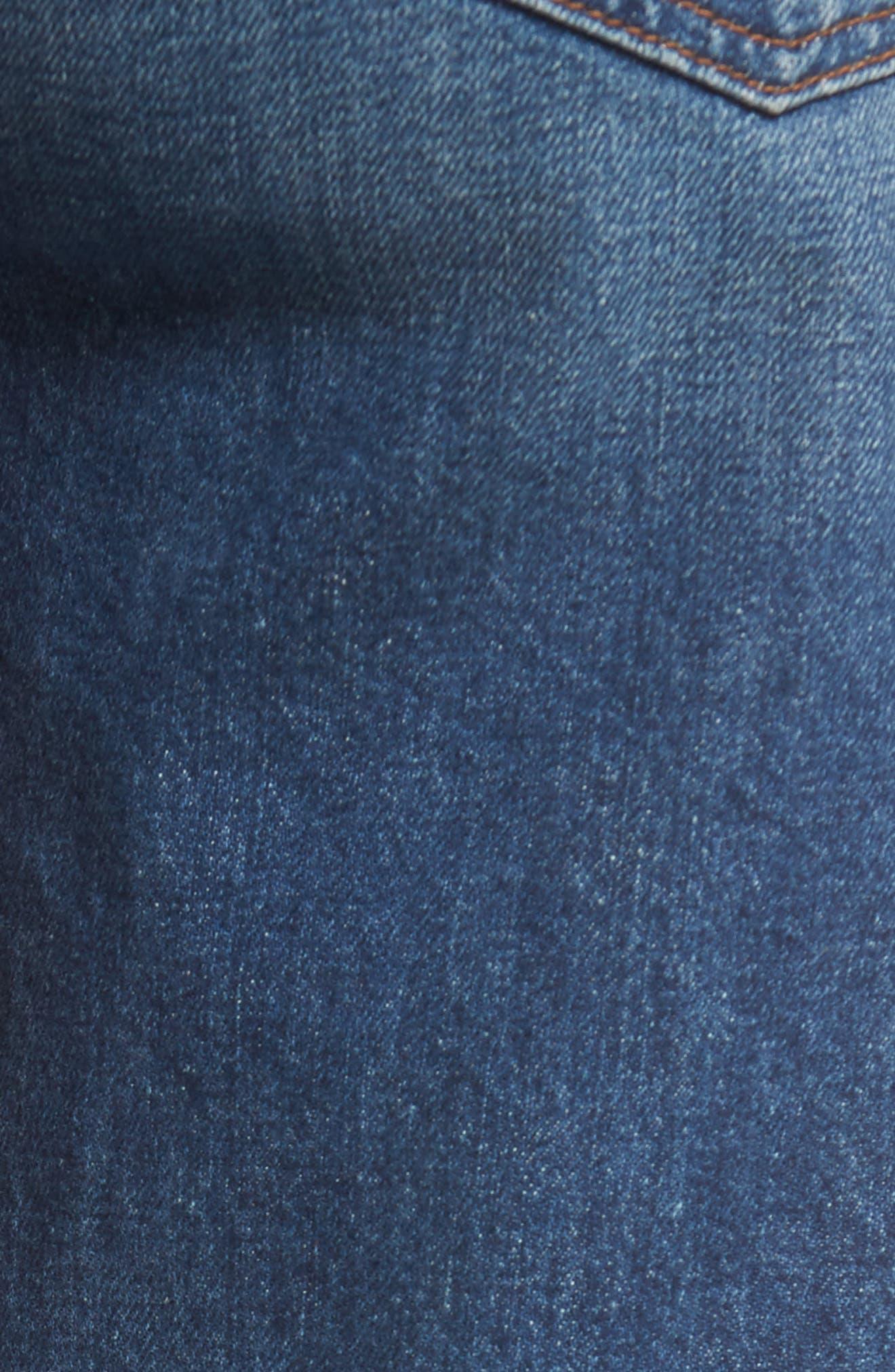 Edie High Waist Crop Straight Leg Jeans,                             Alternate thumbnail 22, color,