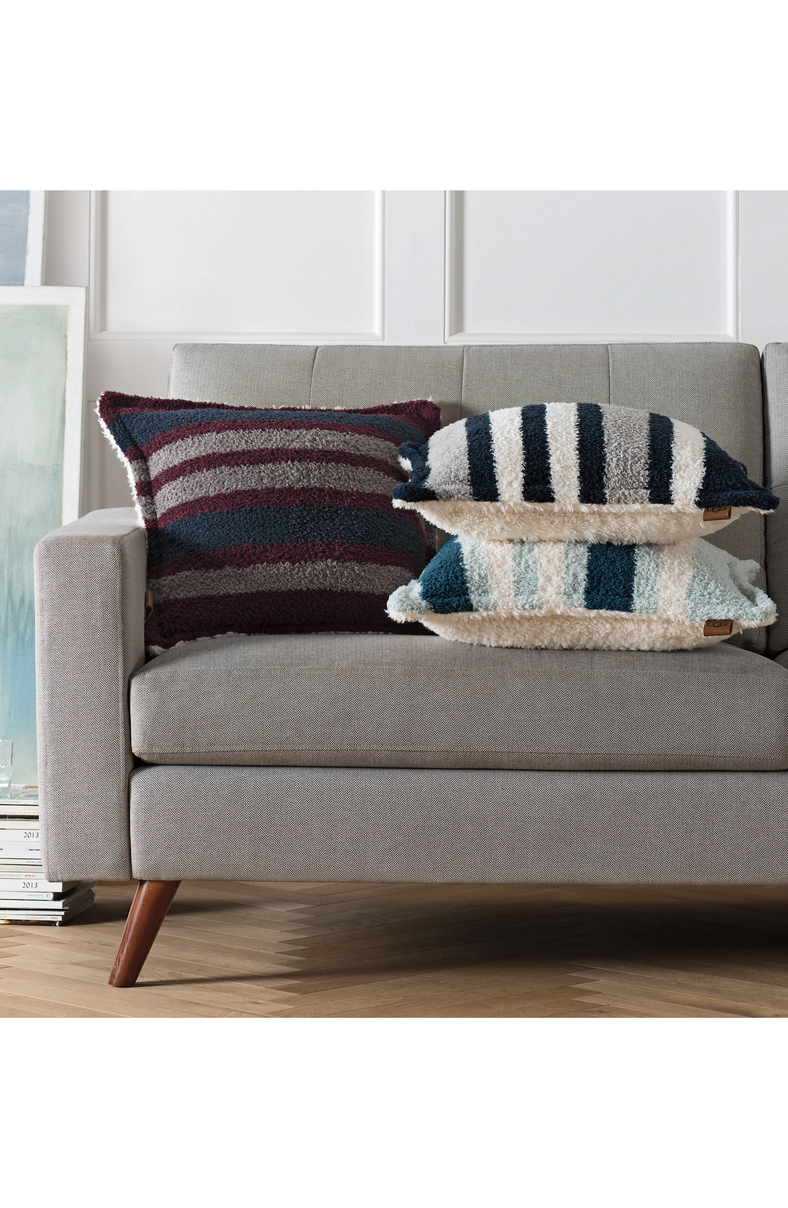 Ana Stripe Accent Pillow,                             Alternate thumbnail 2, color,                             NAVY MULTI