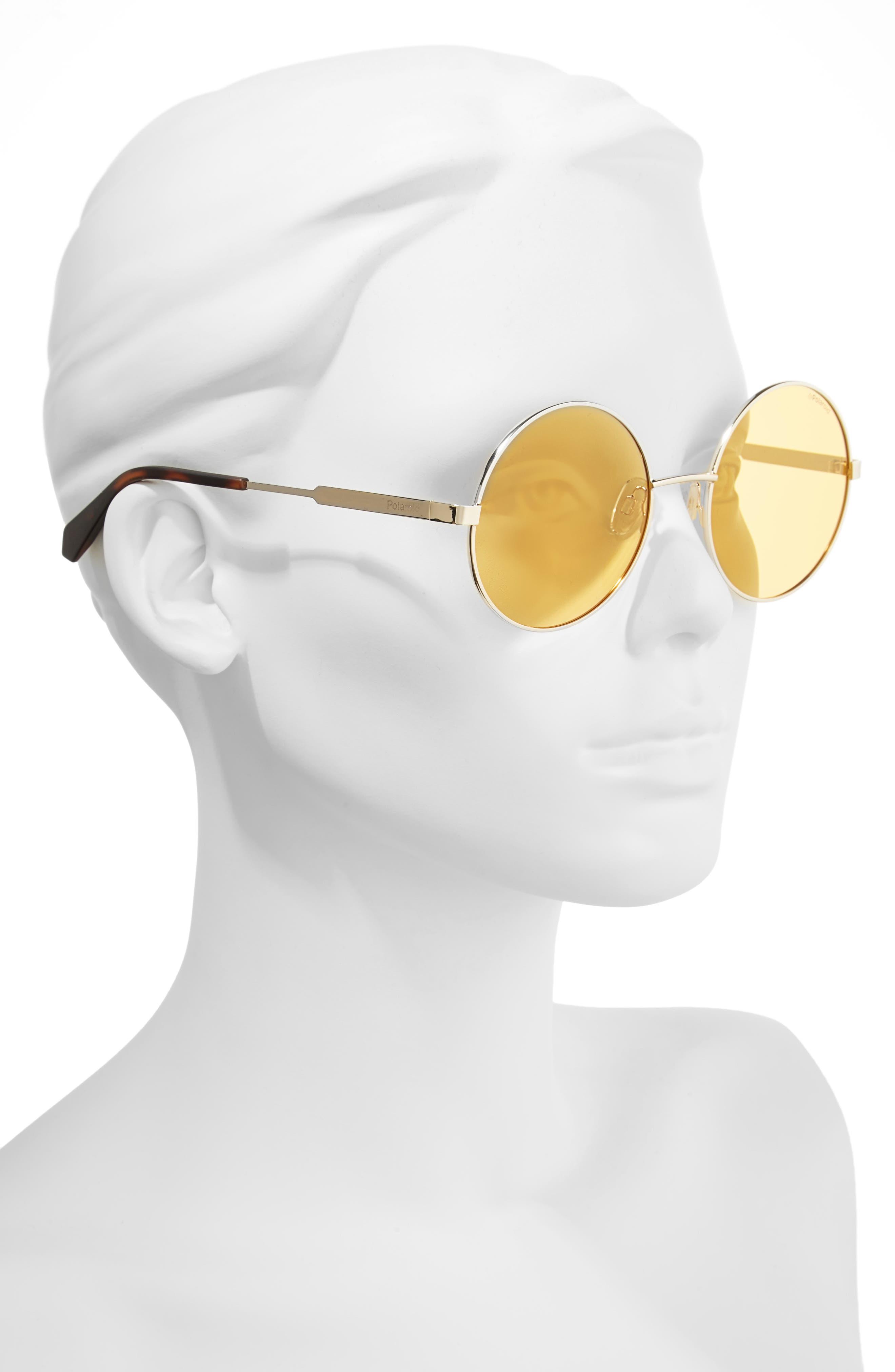 55mm Polarized Round Sunglasses,                             Alternate thumbnail 8, color,