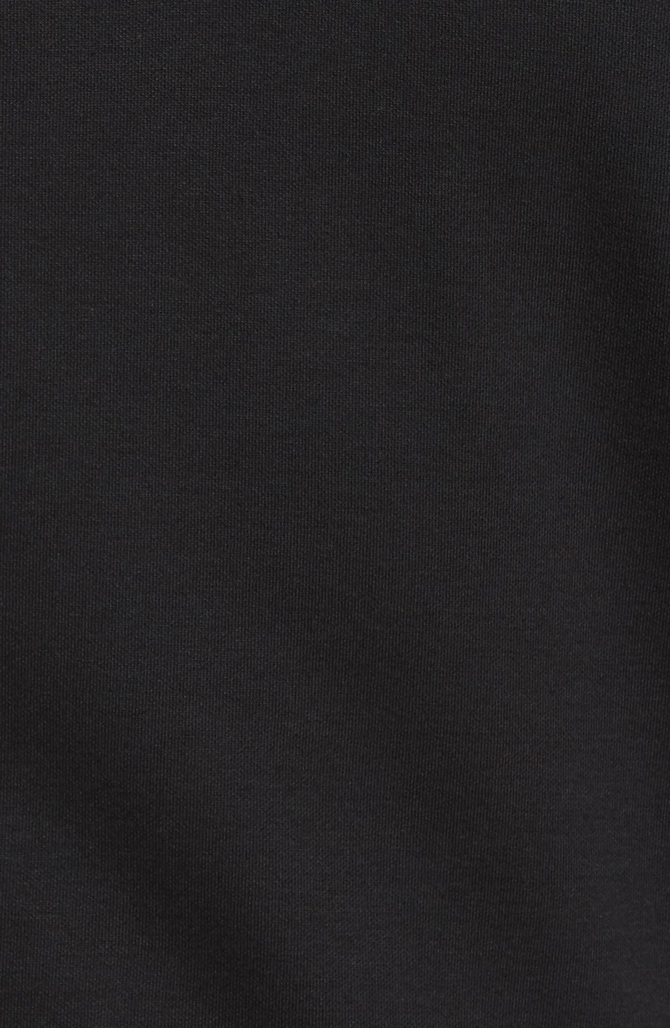 Sully Quarter Zip Pullover,                             Alternate thumbnail 5, color,                             BLACK