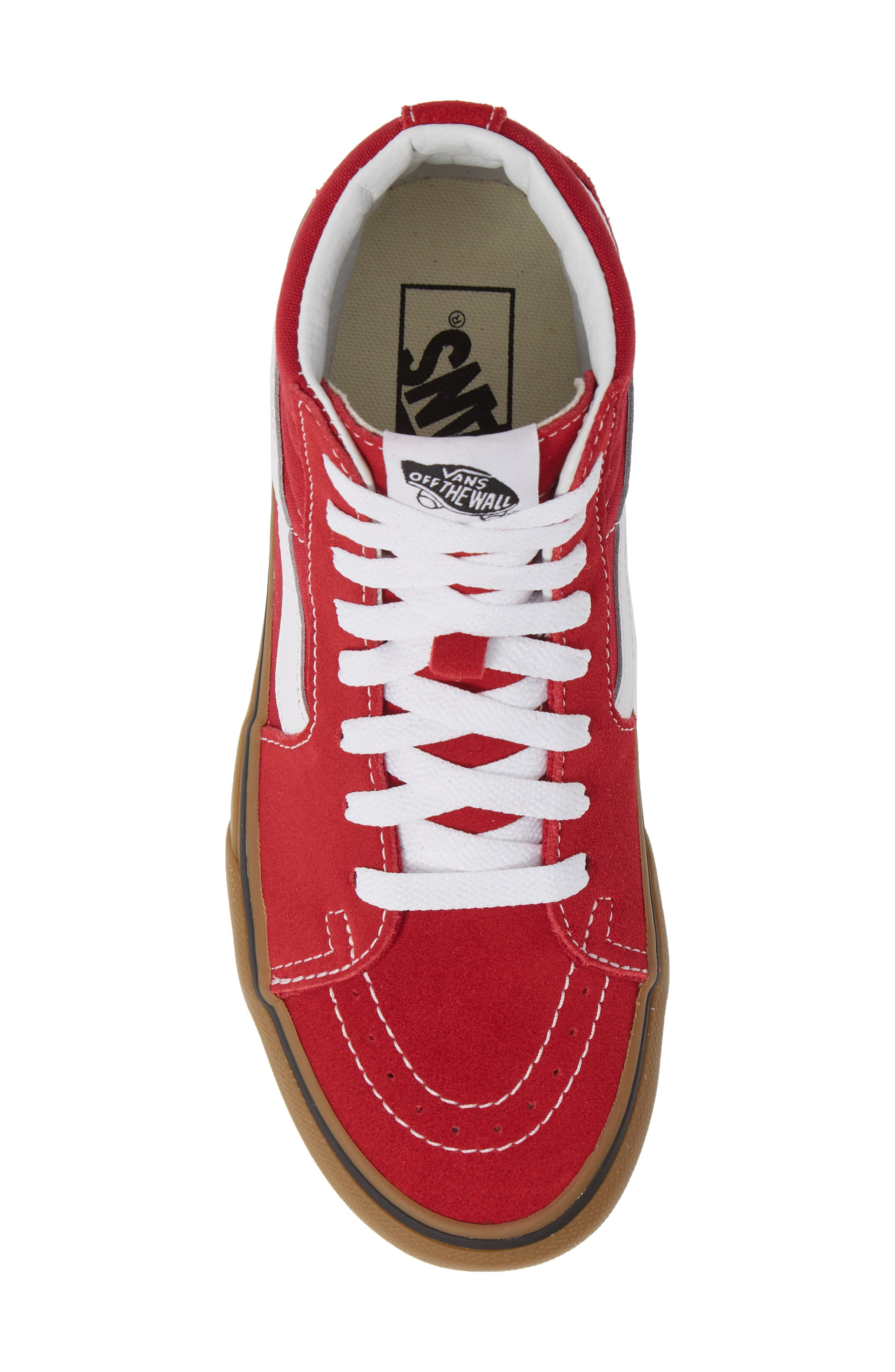 Sk8-Hi Platform Sneaker,                             Alternate thumbnail 5, color,                             SCOOTER/ TRUE WHITE