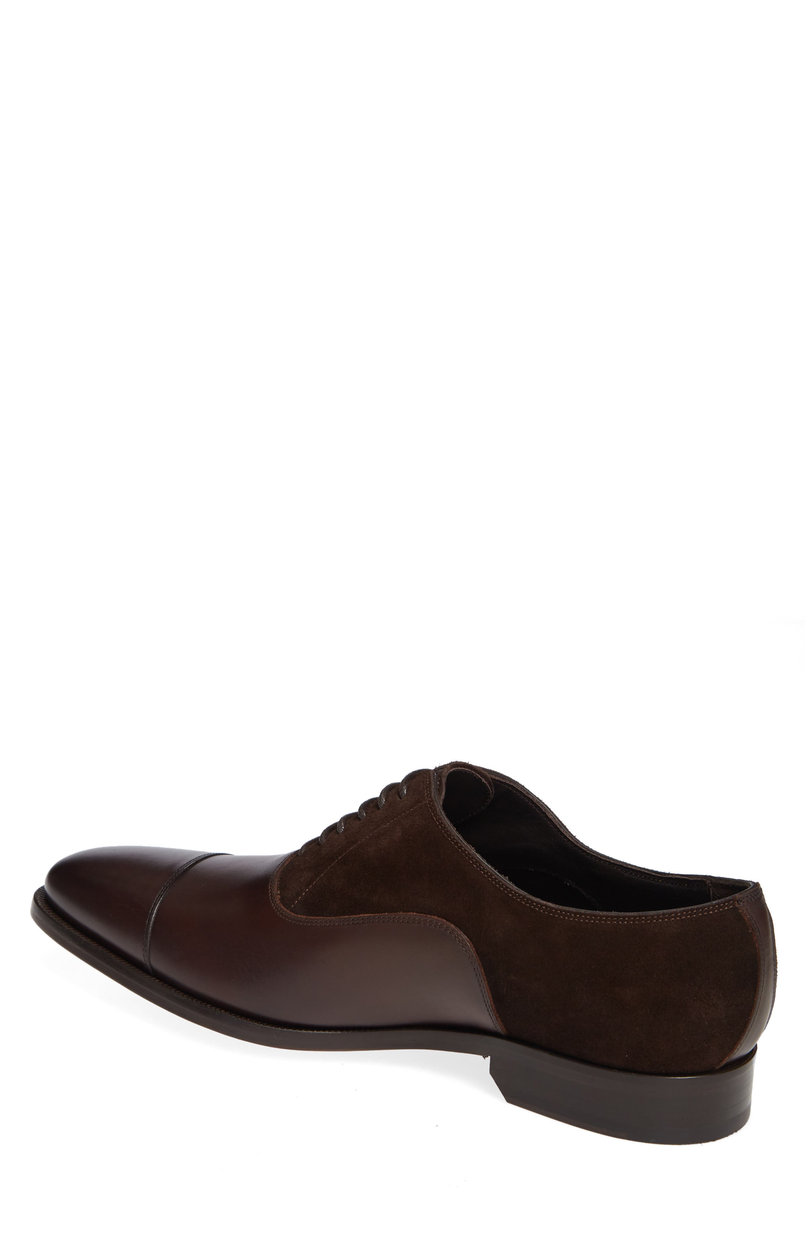 Amadora Cap Toe Oxford,                             Alternate thumbnail 2, color,                             BERRY/ BROWN LEATHER