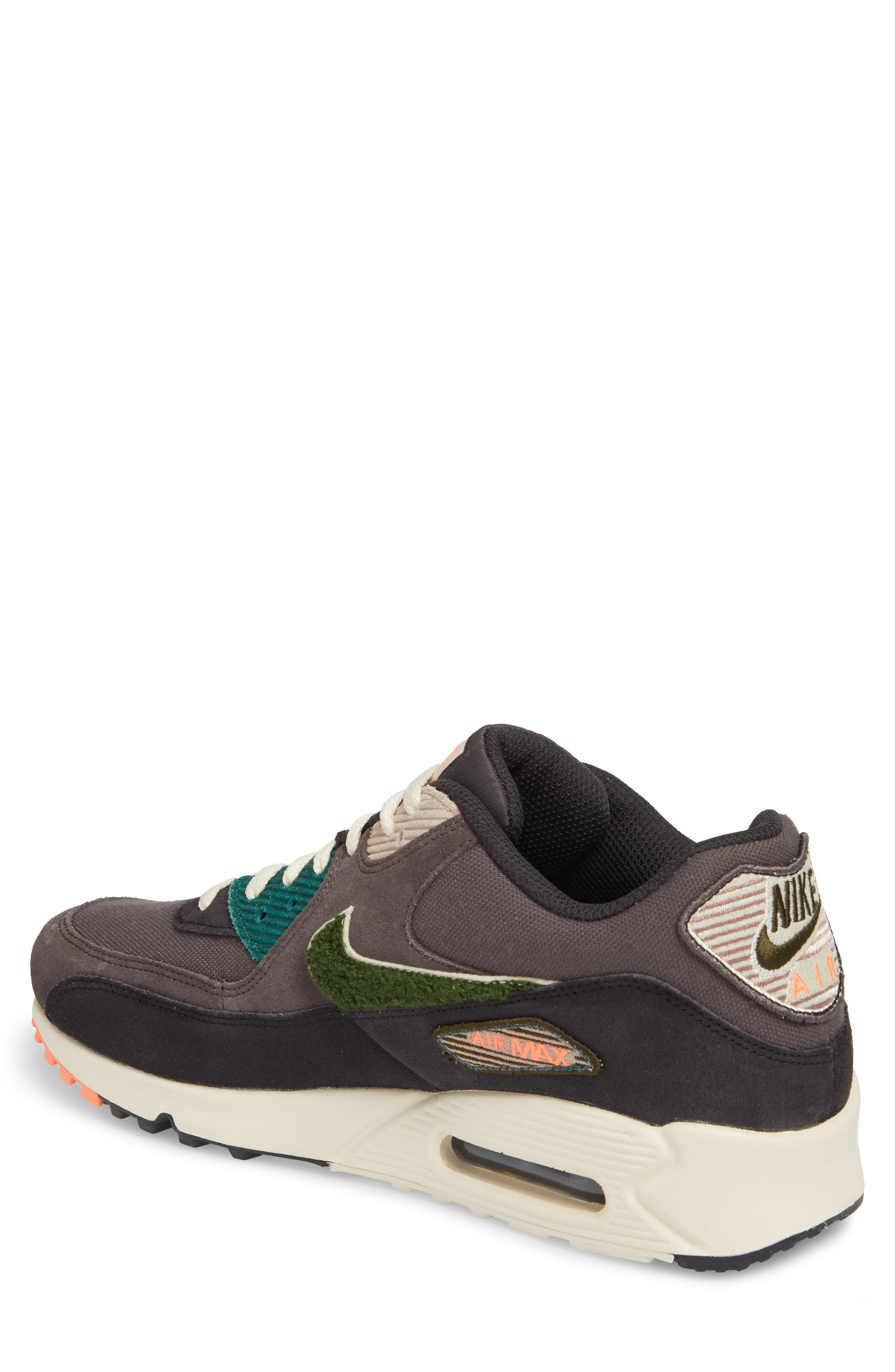 Air Max 90 Premium Sneaker,                             Alternate thumbnail 4, color,