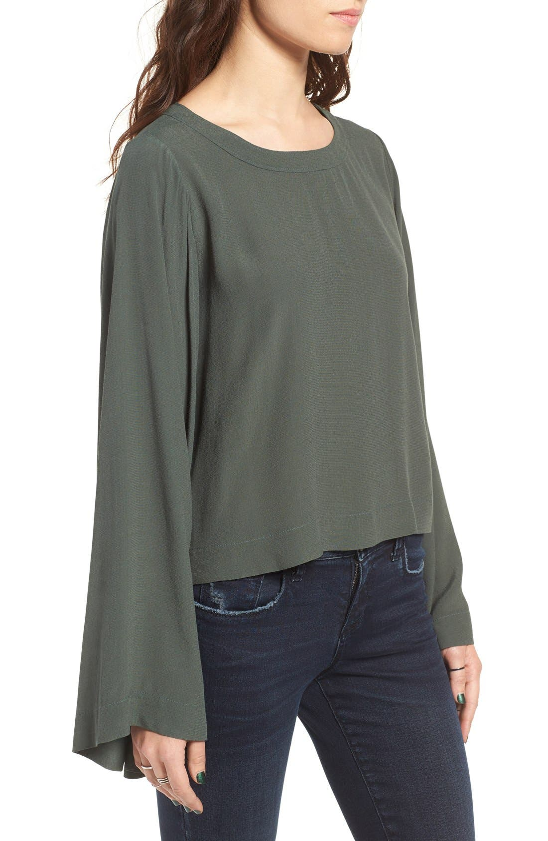 Bell Sleeve Blouse,                             Alternate thumbnail 5, color,