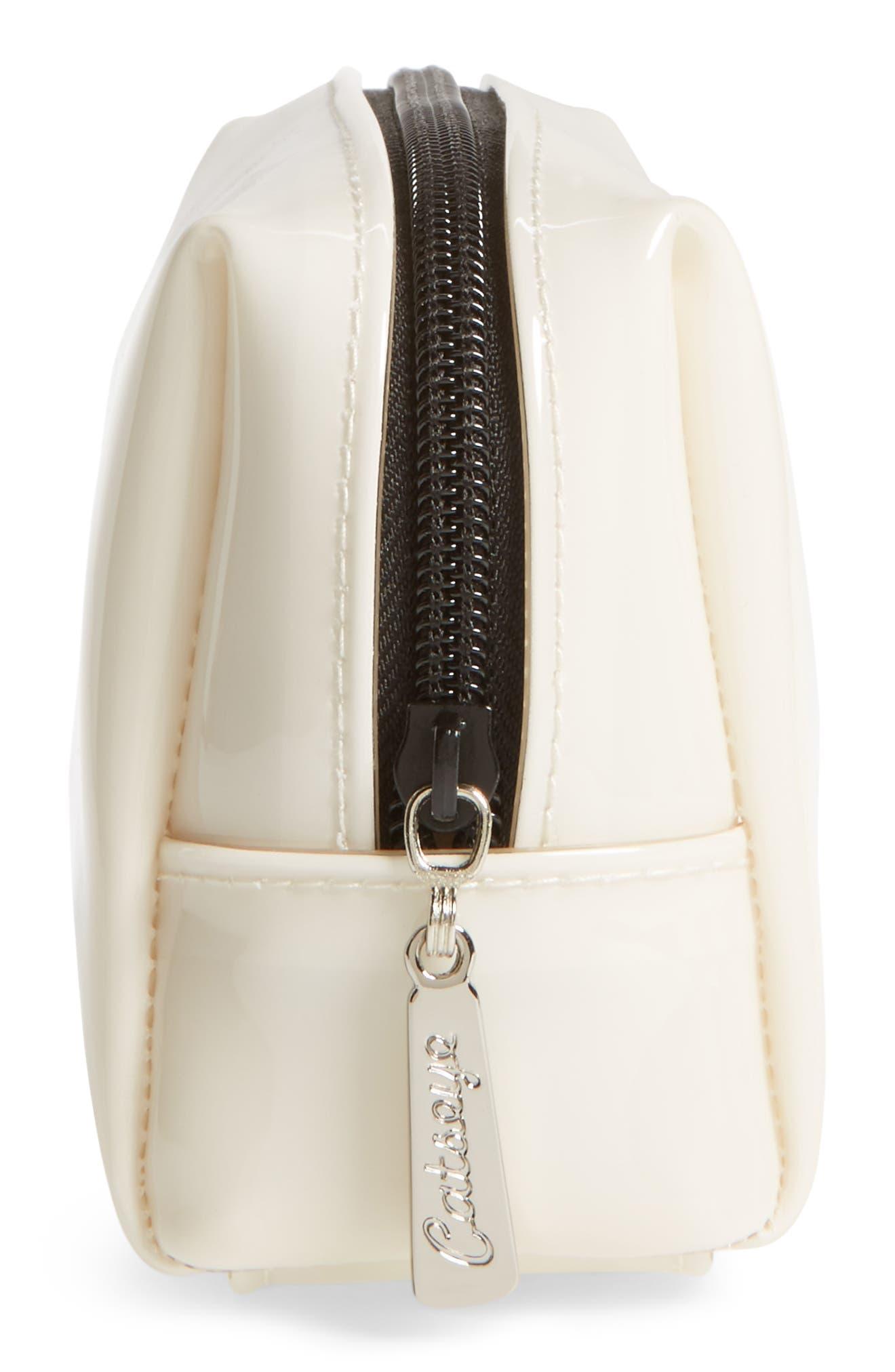 Monochrome Panda Cosmetics Bag,                             Alternate thumbnail 4, color,                             101