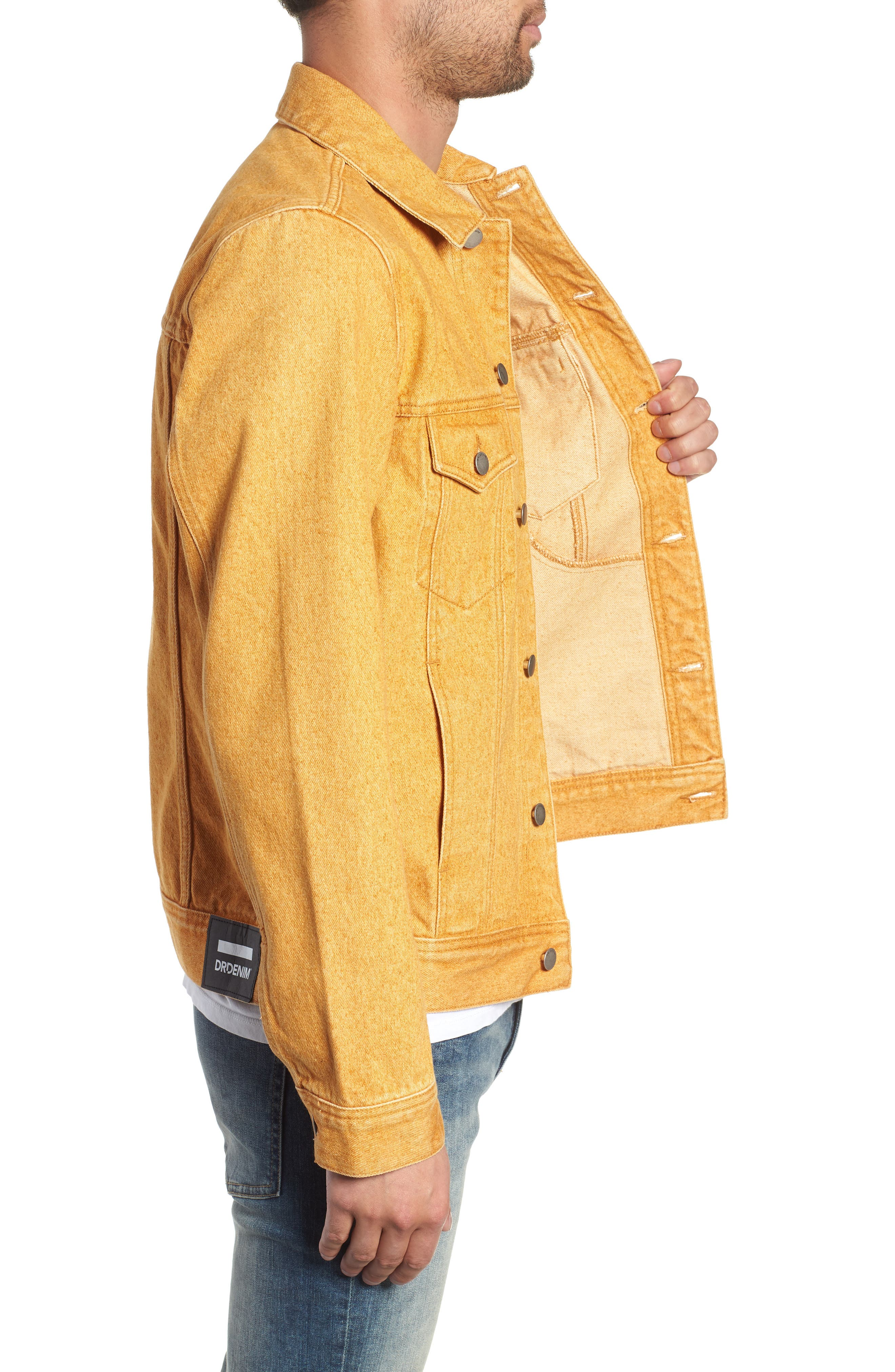 Dwight Denim Jacket,                             Alternate thumbnail 3, color,                             DUSTY GOLD