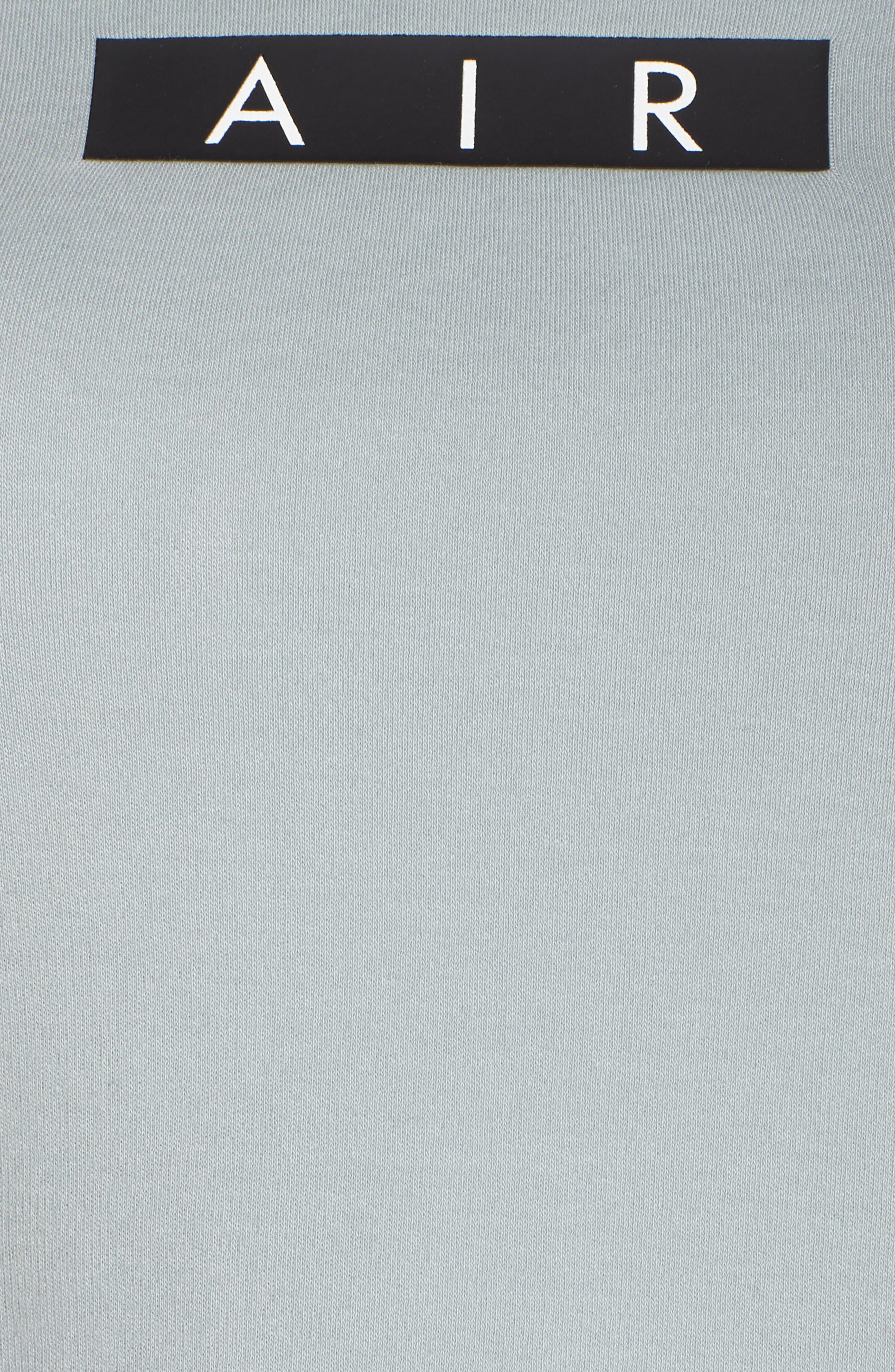 Sportswear Baby Air Crop Tee,                             Alternate thumbnail 8, color,                             LIGHT PUMICE/ BLACK