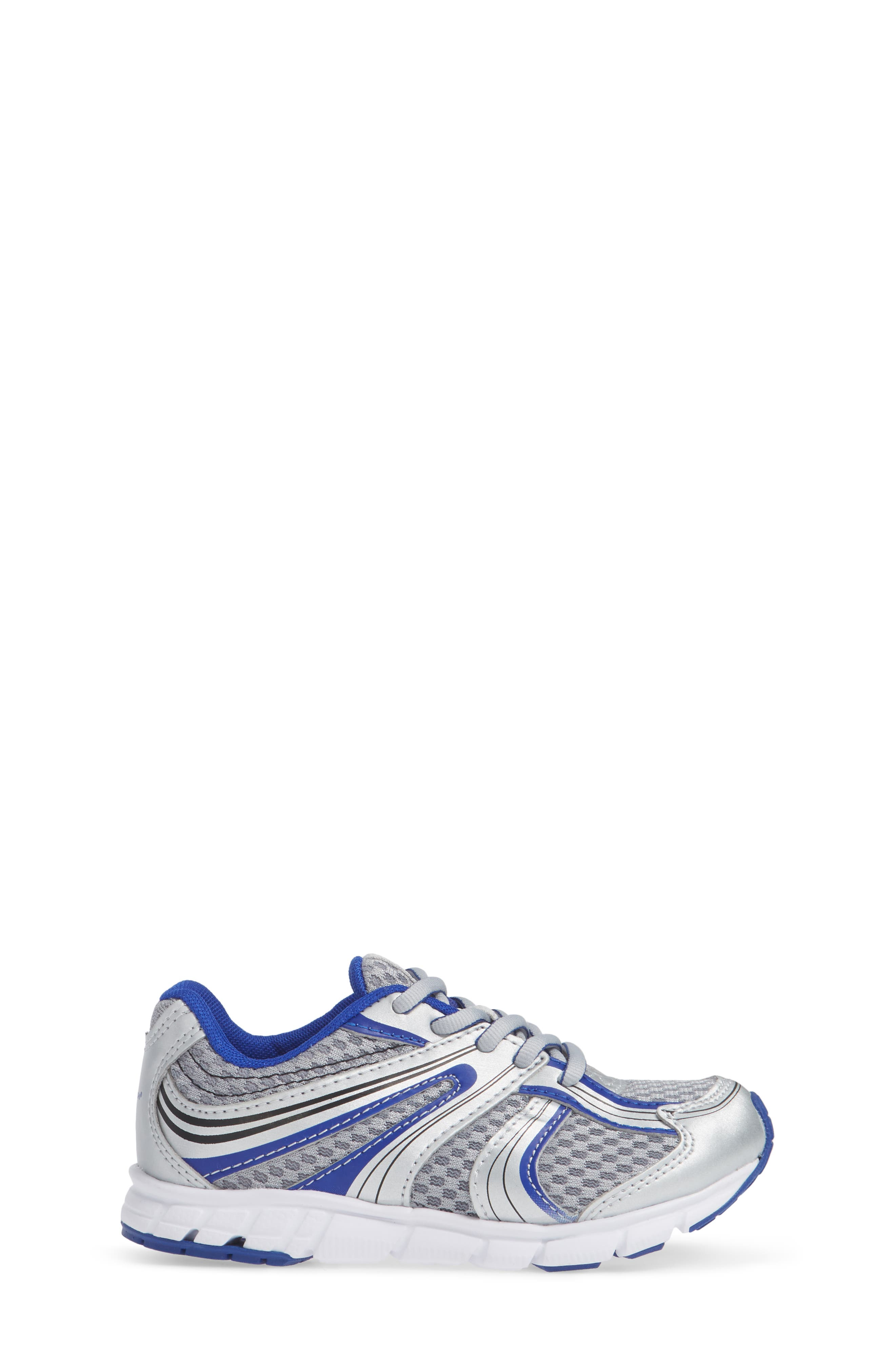 Dash Washable Sneaker,                             Alternate thumbnail 3, color,                             SILVER/ ROYAL
