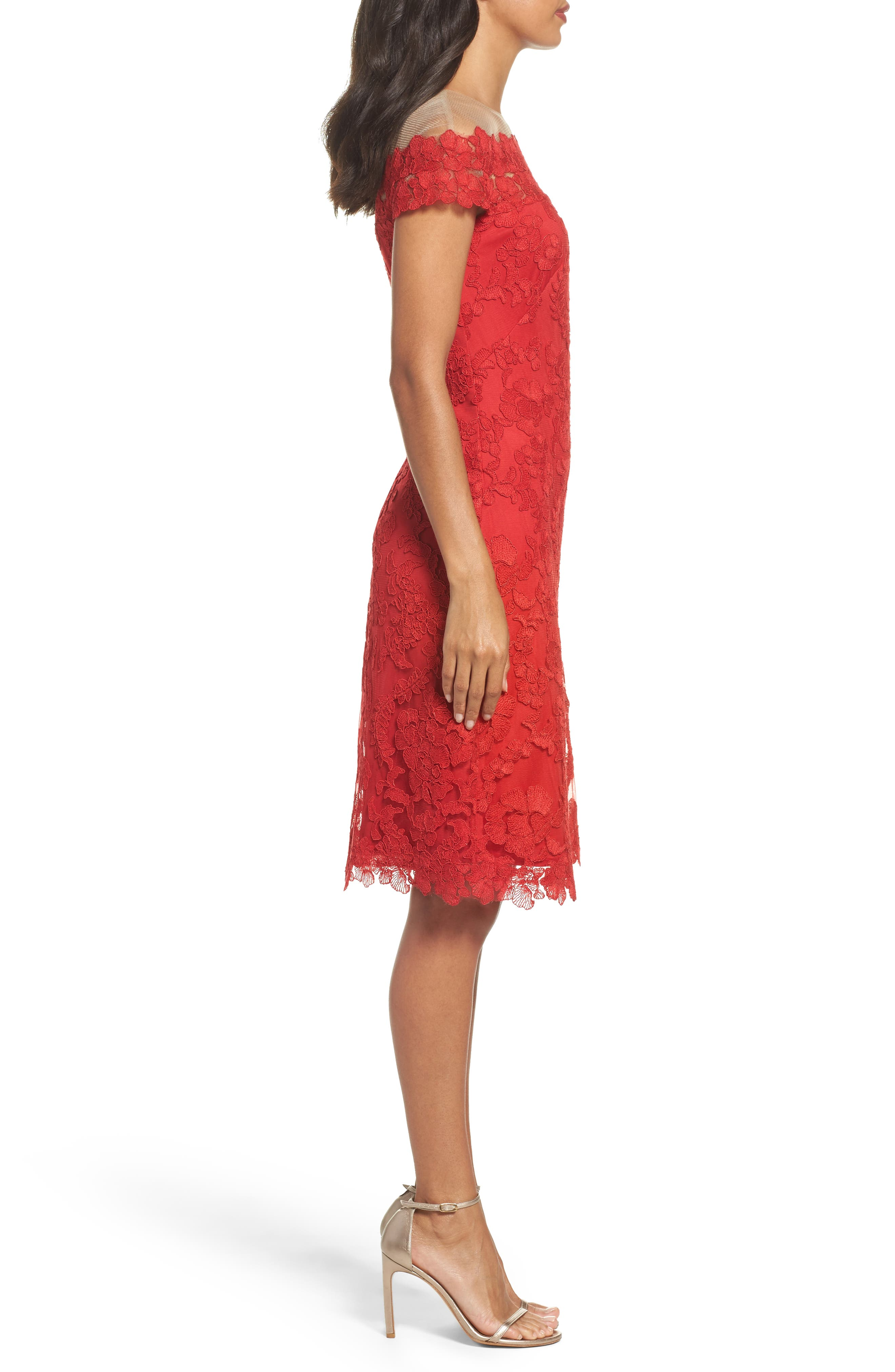 Embroidered Sheath Dress,                             Alternate thumbnail 3, color,                             611