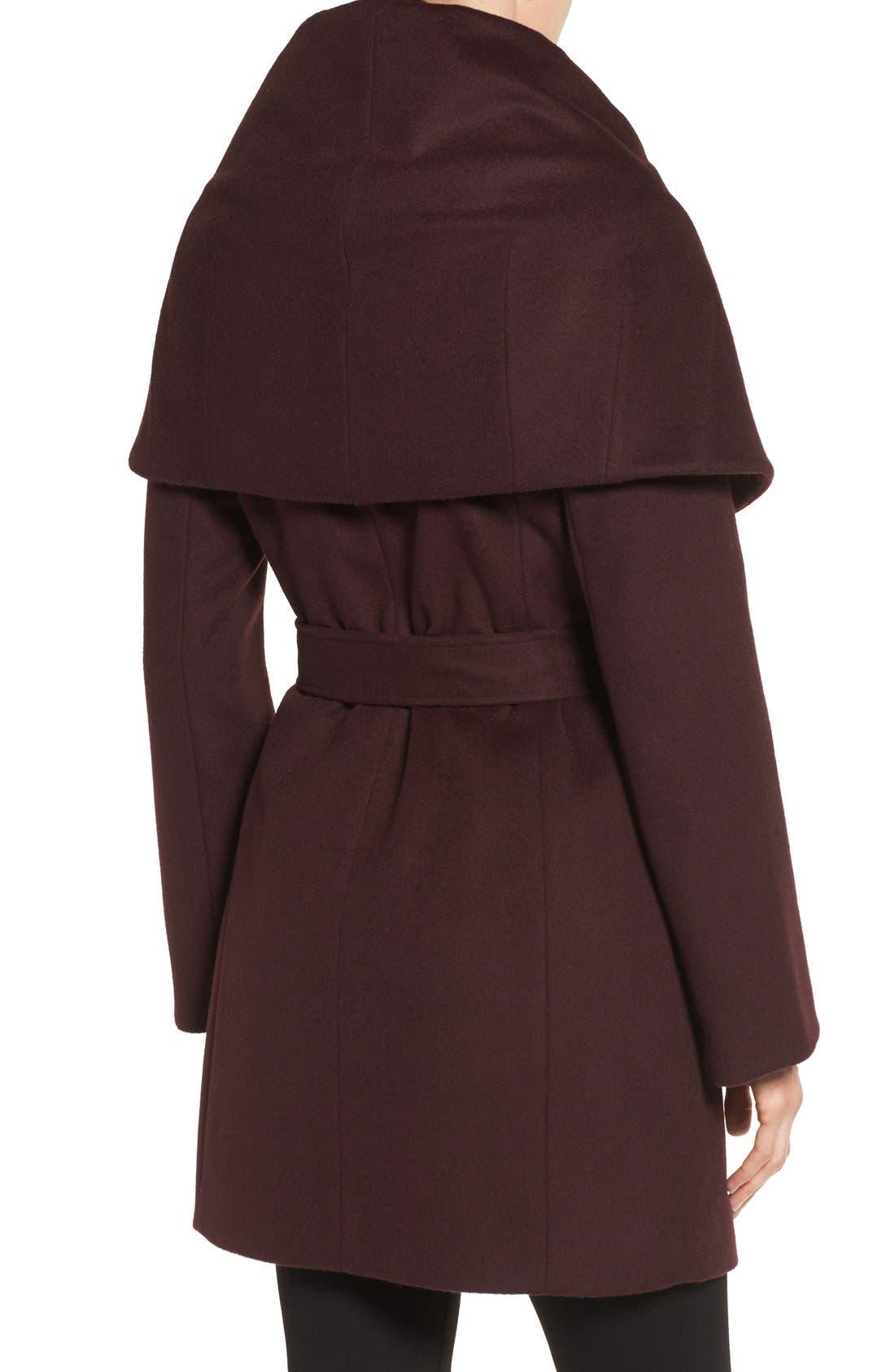 T Tahari Wool Blend Belted Wrap Coat,                             Alternate thumbnail 29, color,